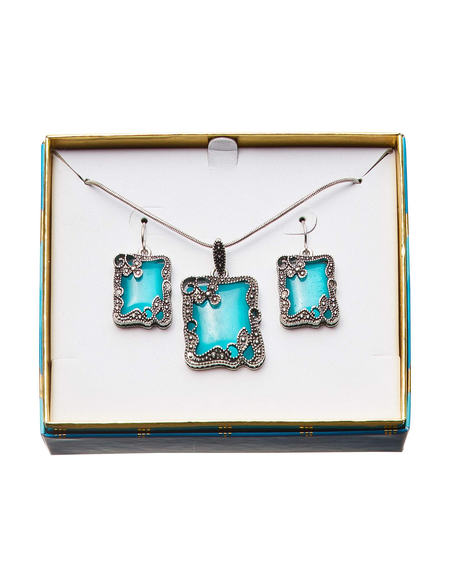 Tanya Silver Drops Earrings Necklaces & Pendants Fashion Jewelry