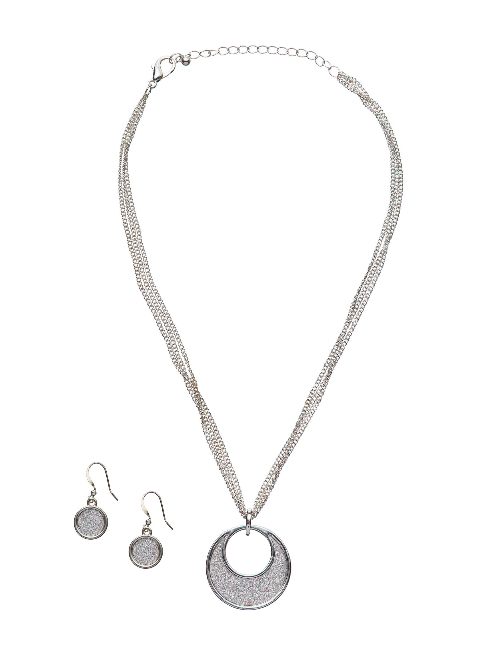Tanya Silver Drops Earrings Jewelry Sets Necklaces & Pendants Fashion Jewelry