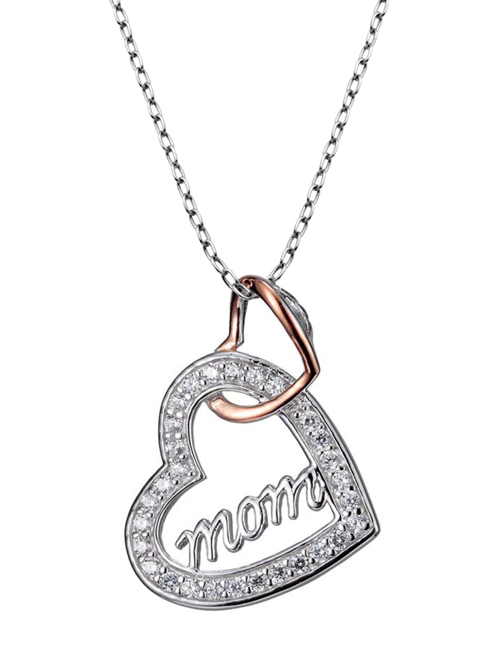PAJ INC. Silver / Rose Gold Necklaces & Pendants Fine Jewelry