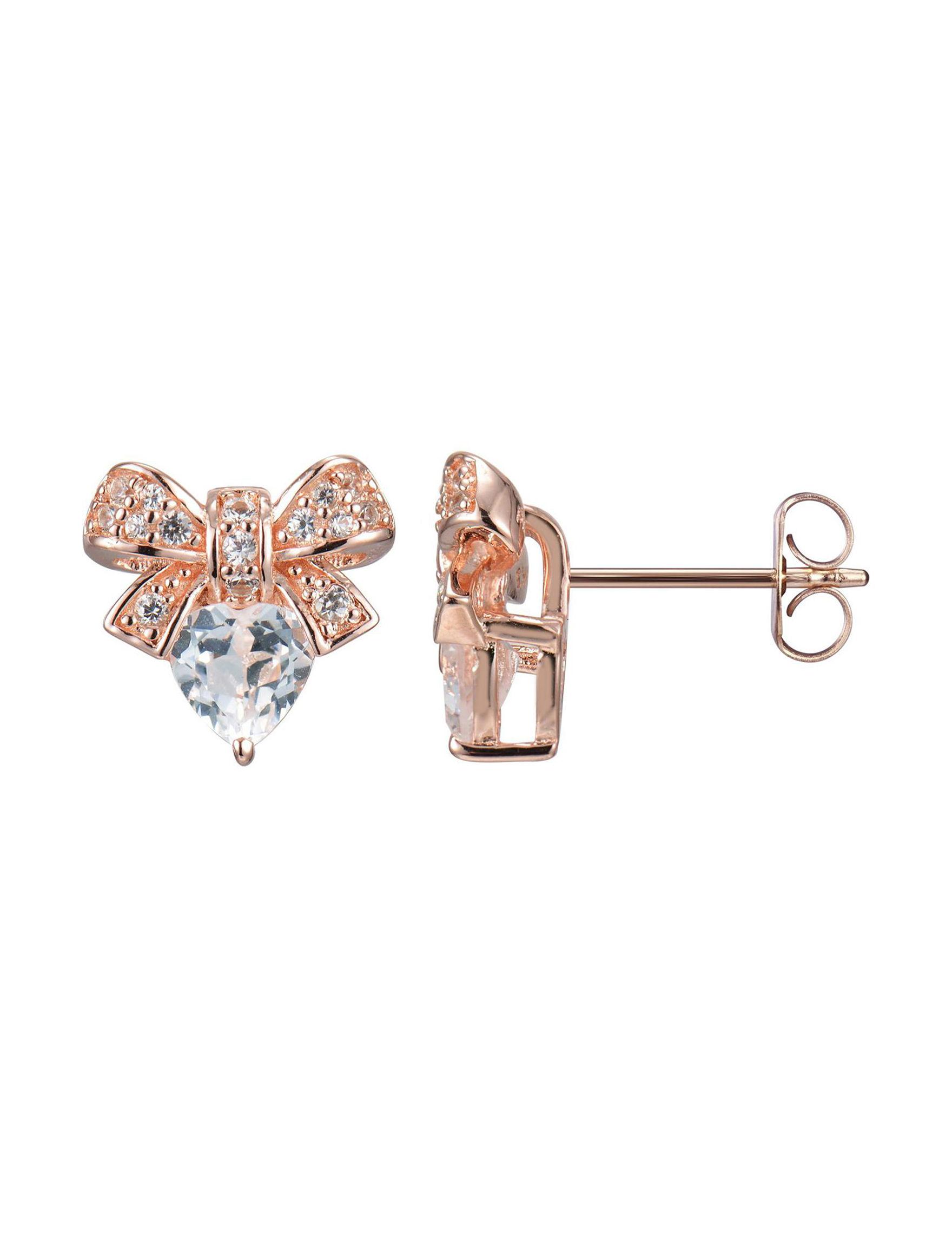 PAJ INC. Rose Gold Studs Earrings Fine Jewelry