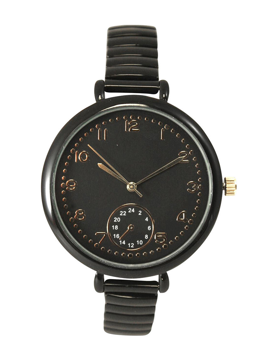 Olivia Pratt Black Fashion Watches