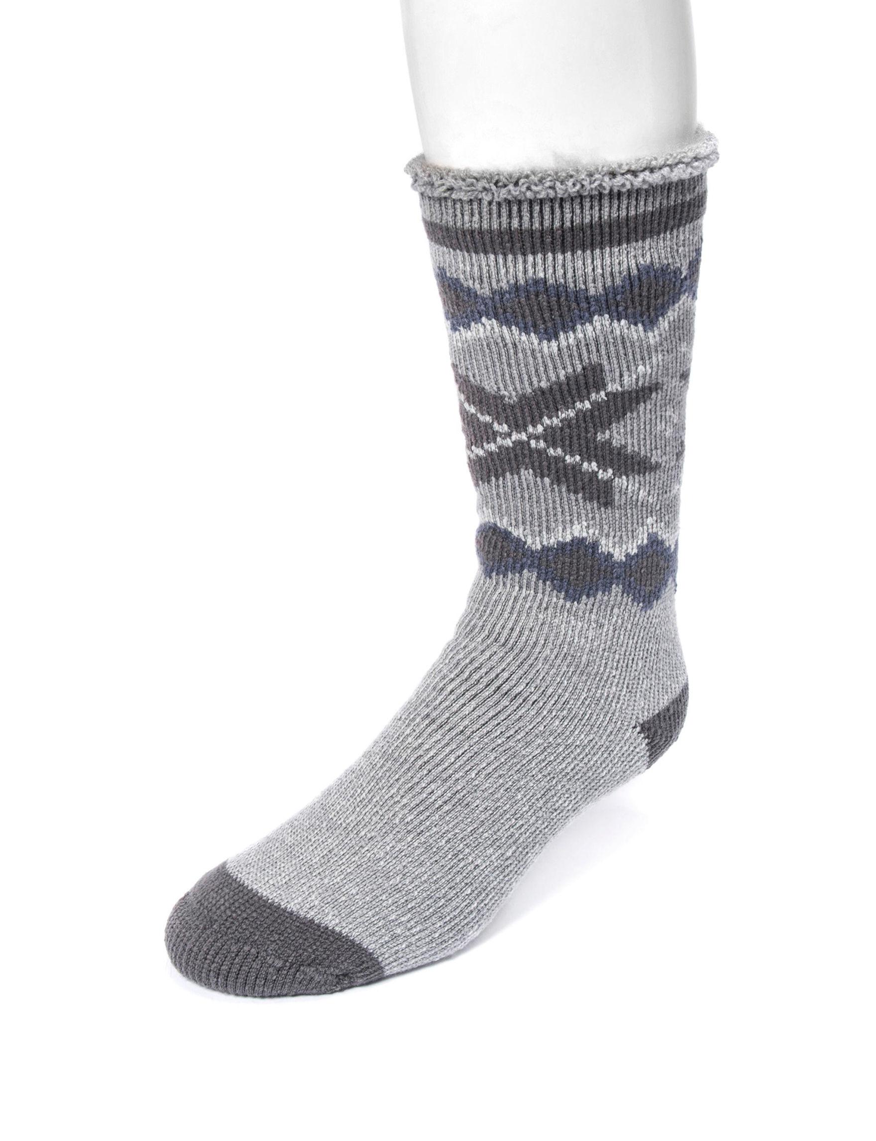 Muk Luks Grey Socks