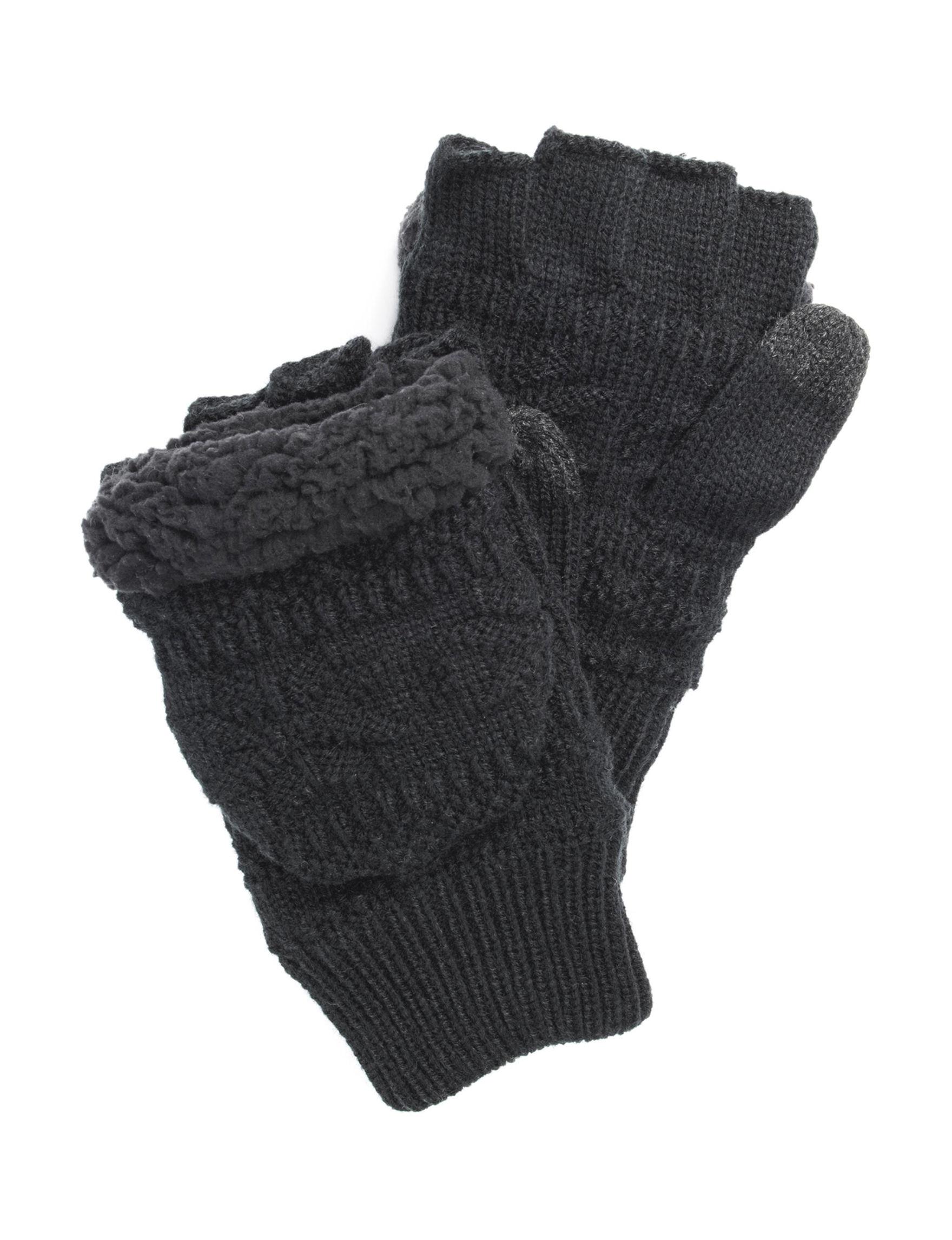Muk Luks Black Gloves & Mittens