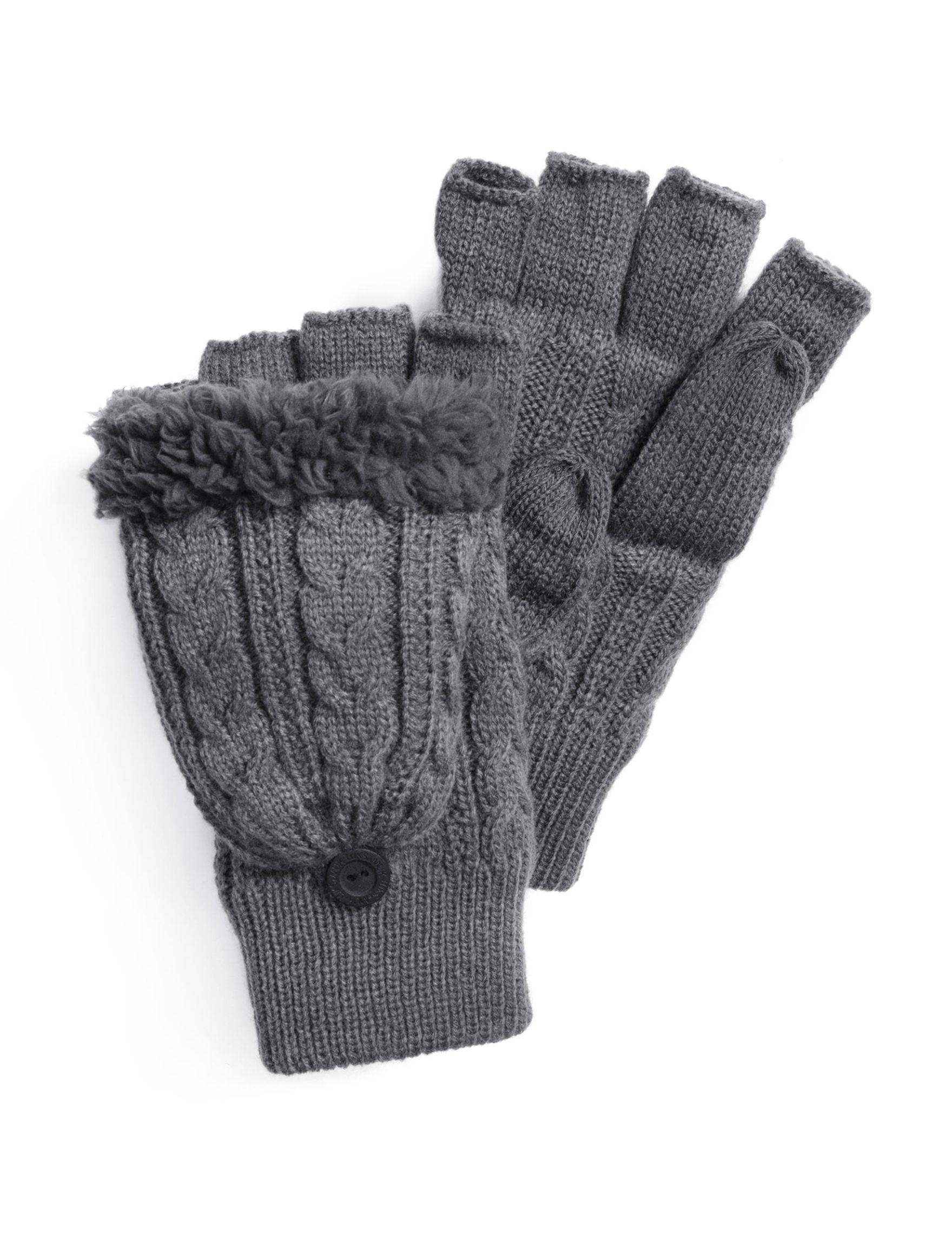 Muk Luks Grey Gloves & Mittens