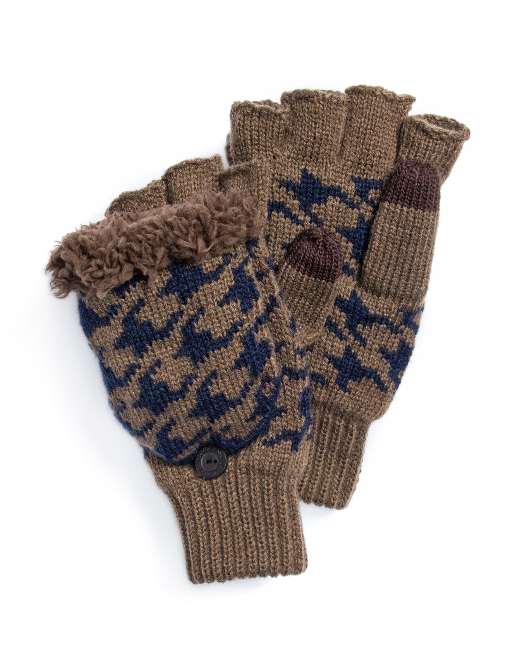 Muk Luks Brown Gloves & Mittens
