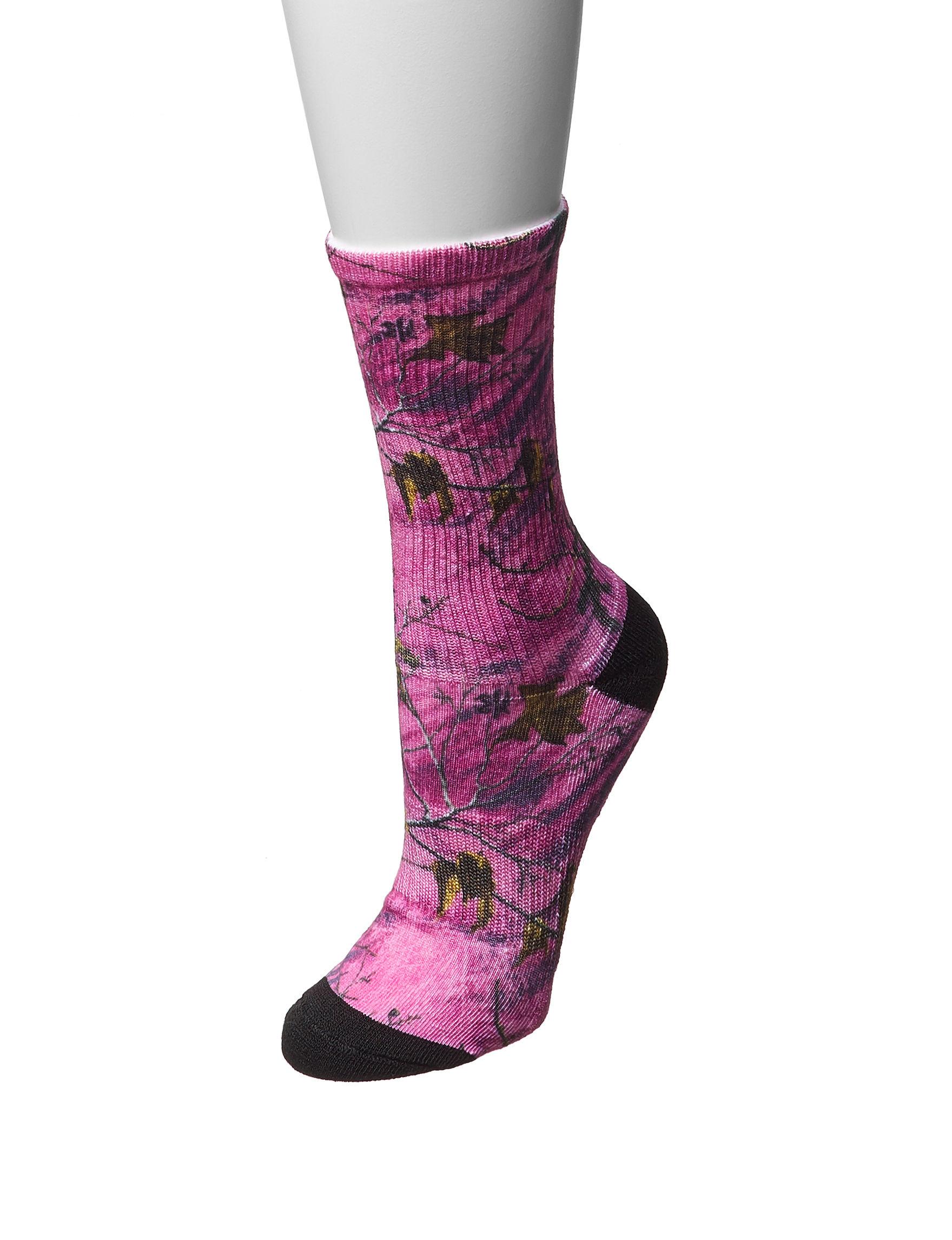 Realtree Pink Socks