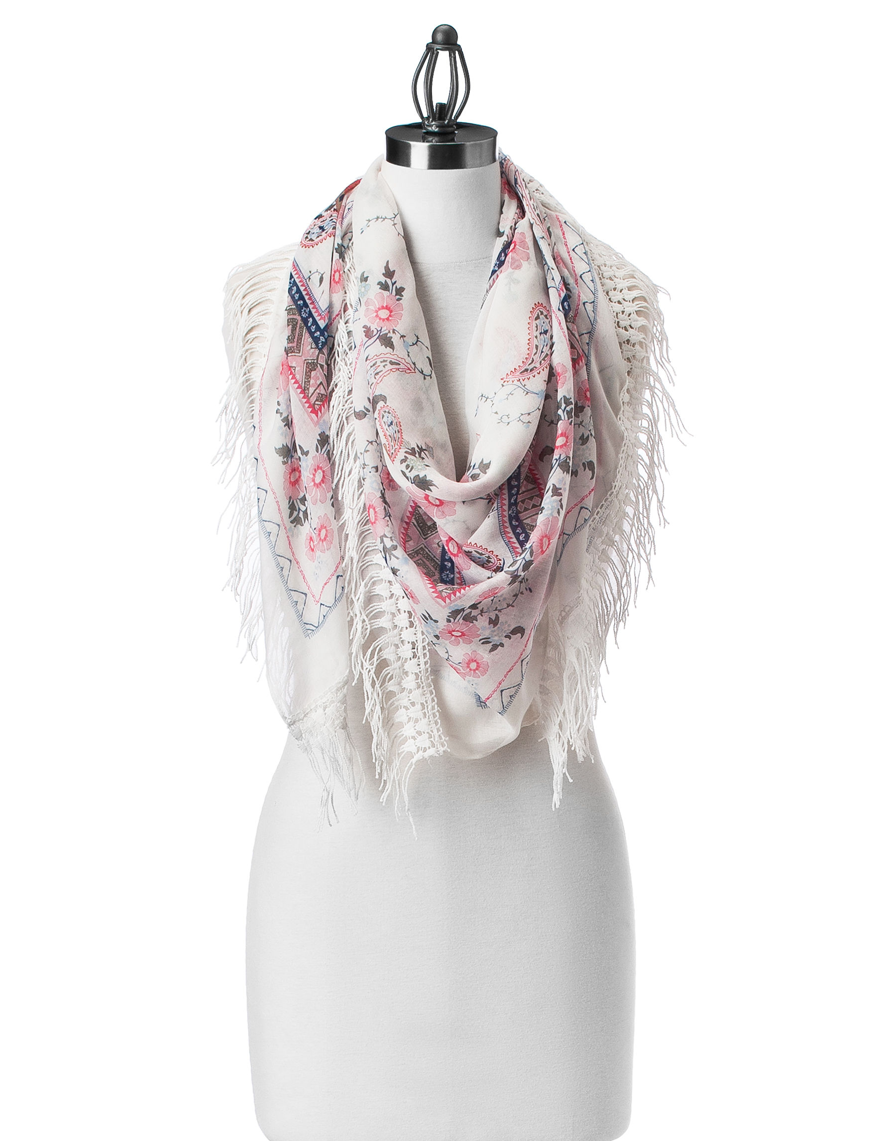 Lake Shore Drive White Scarves & Wraps Scarves