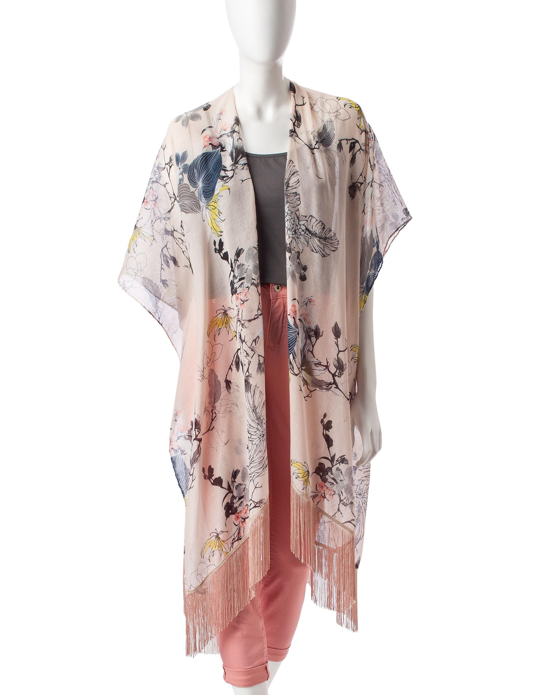Rafaella Ivory Scarves & Wraps Kimonos & Toppers