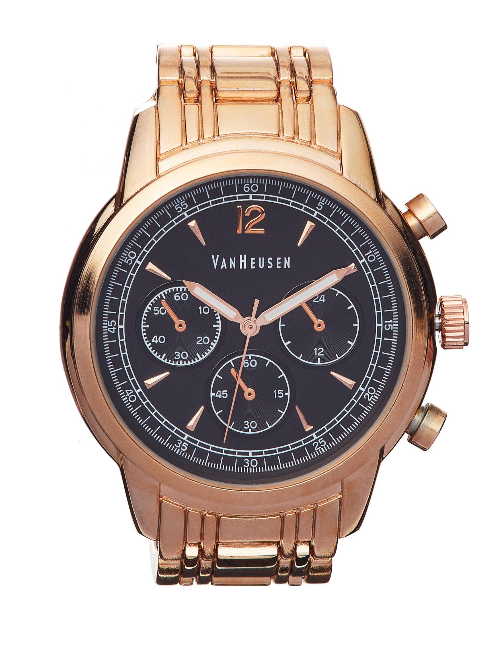 Van Heusen Gold Fashion Watches