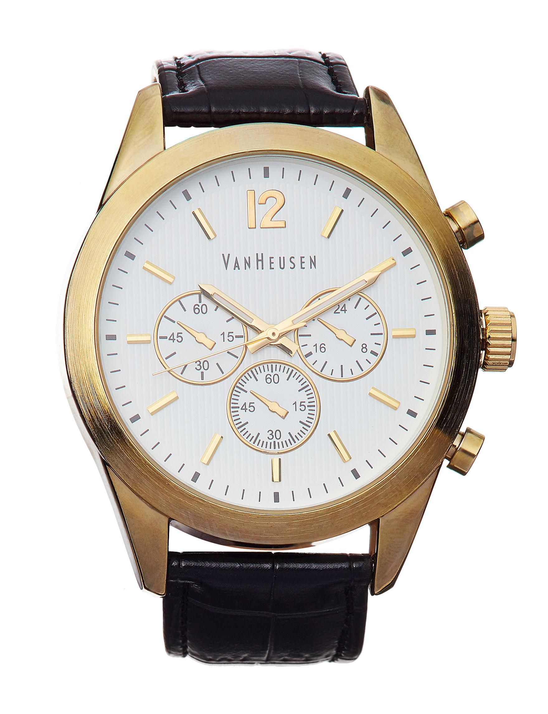 Van Heusen Black Fashion Watches