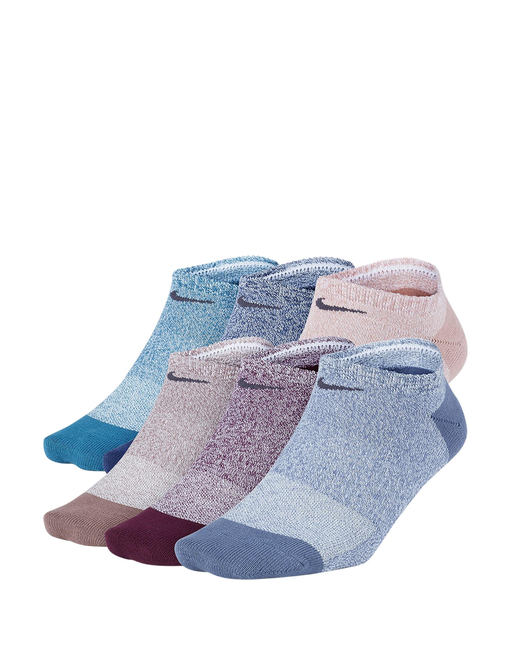 Nike Blue Multi Socks