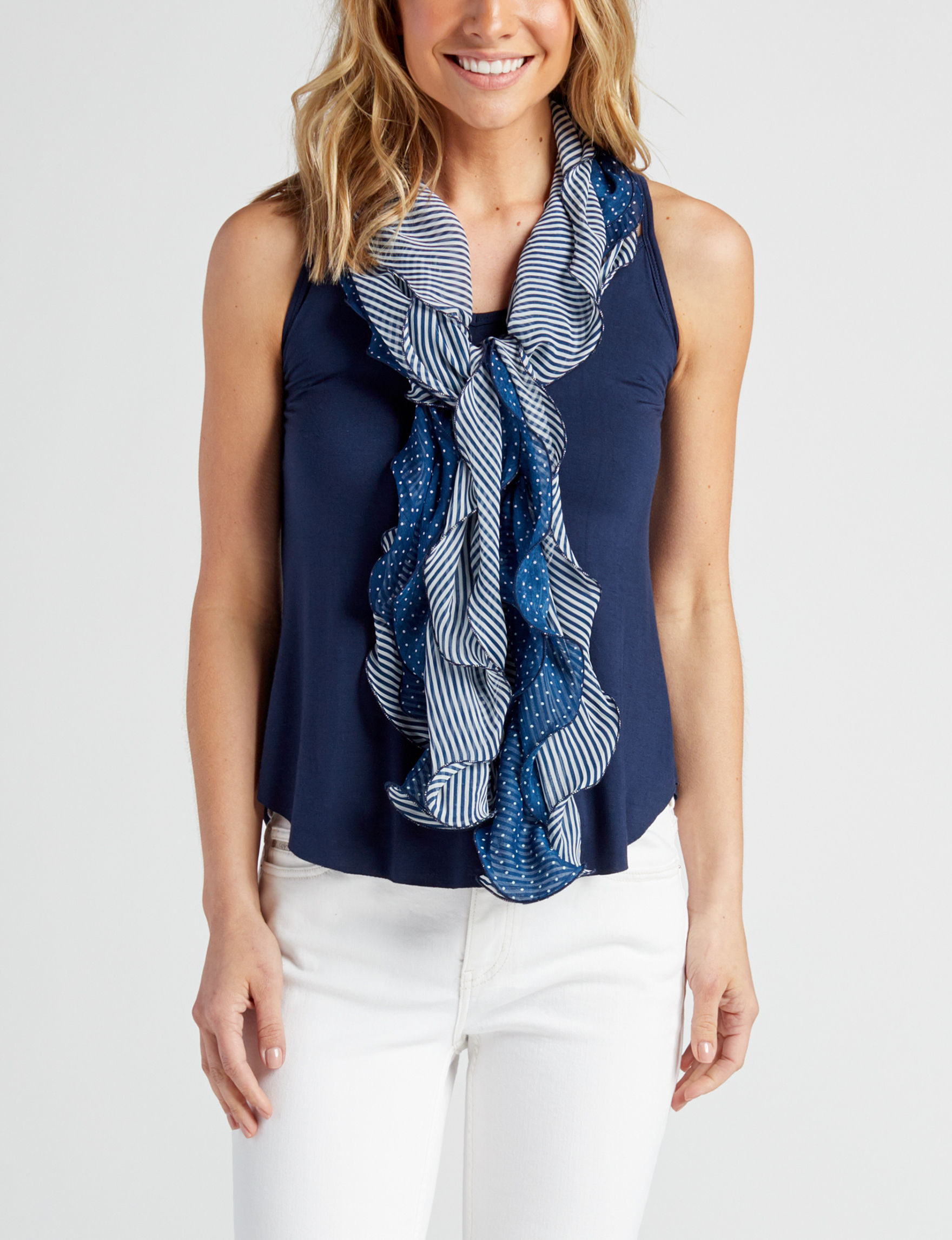 Chaps Navy Scarves & Wraps