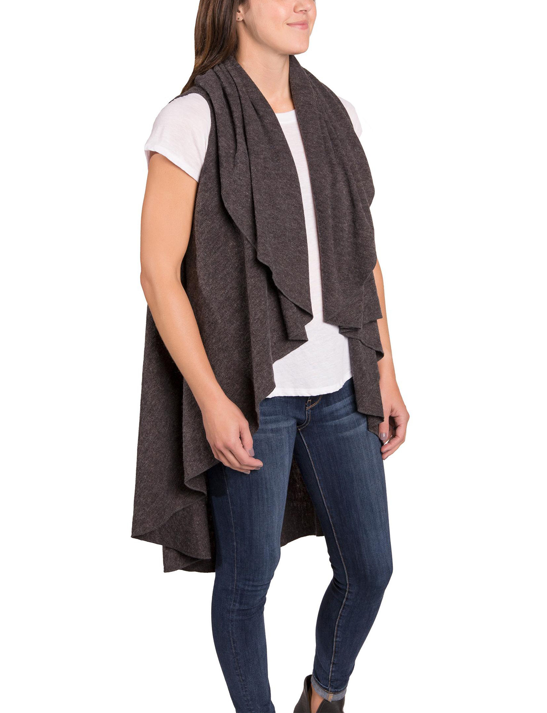Demdaco Charcoal Cardigans Scarves & Wraps