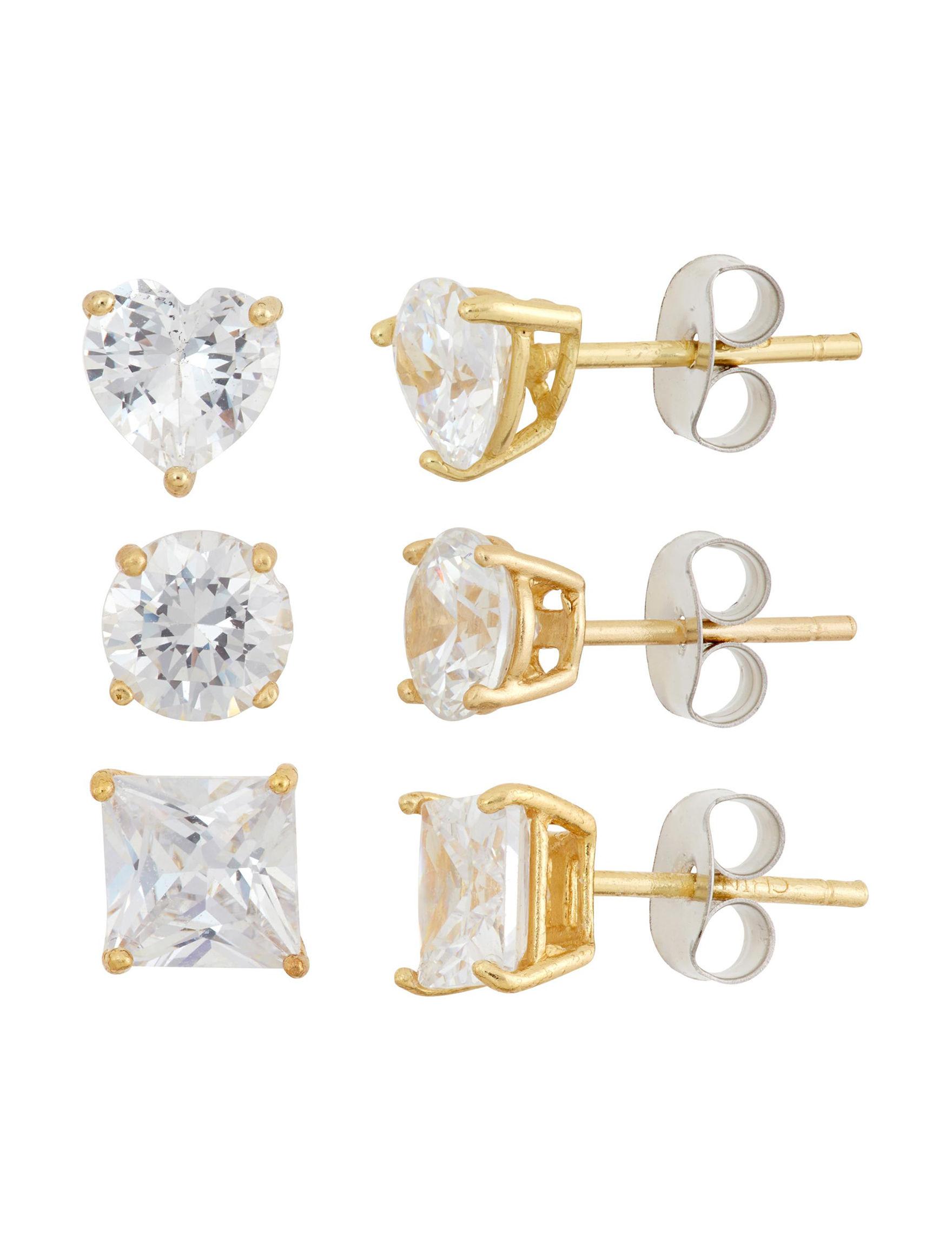 Designs By Helen Andrews Gold Studs Earrings Fine Jewelry