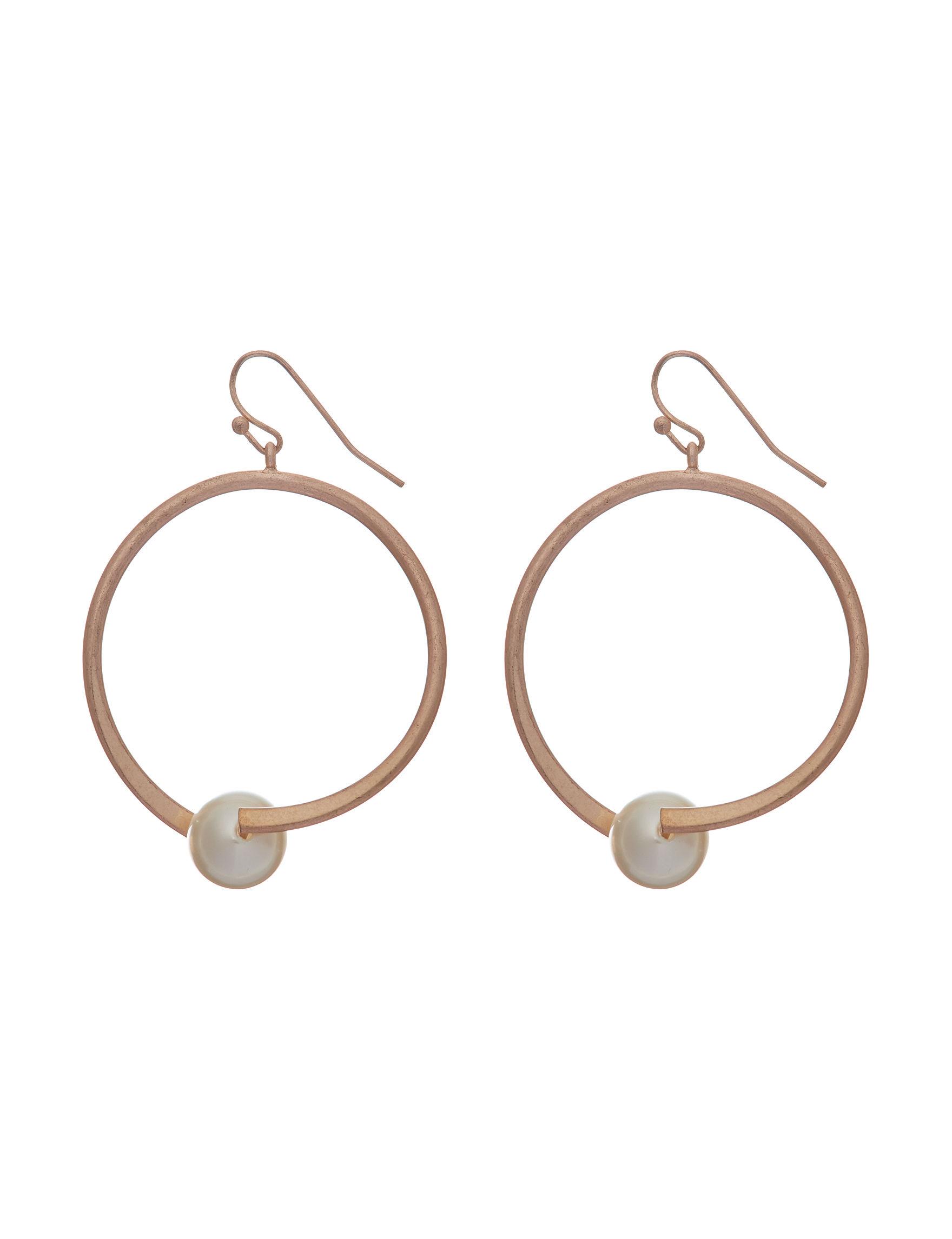 Blank Canvas Rose Gold Drops Earrings Fashion Jewelry