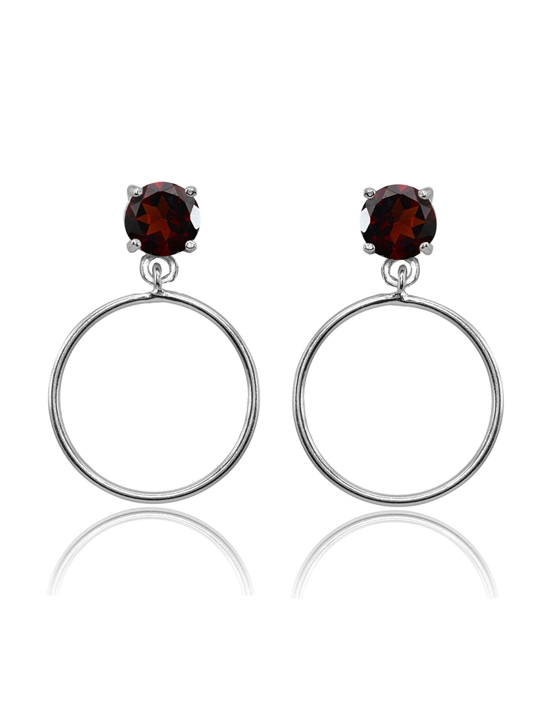FMC Silver Hoops Earrings Fine Jewelry