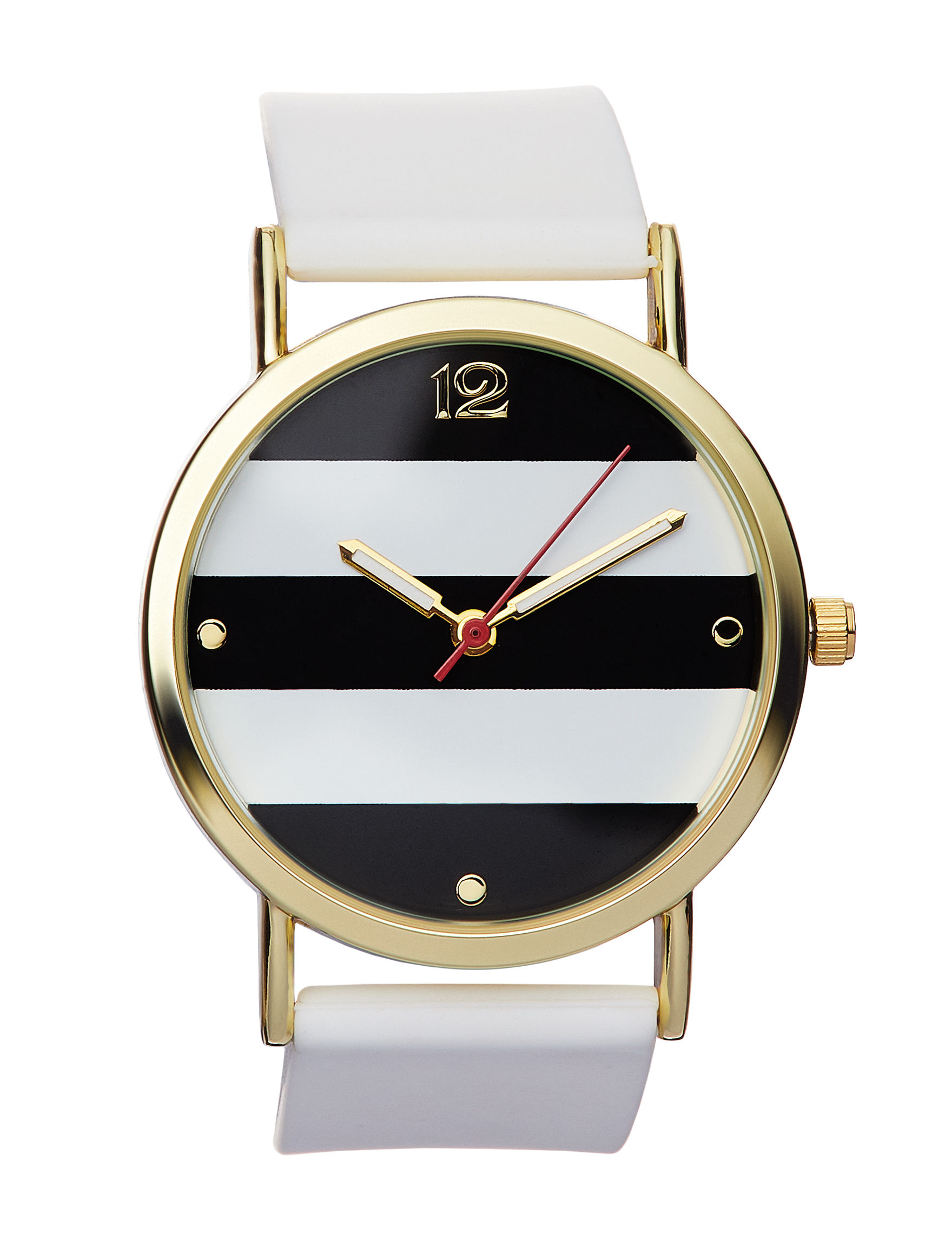 Global Time White / Gold Fashion Watches