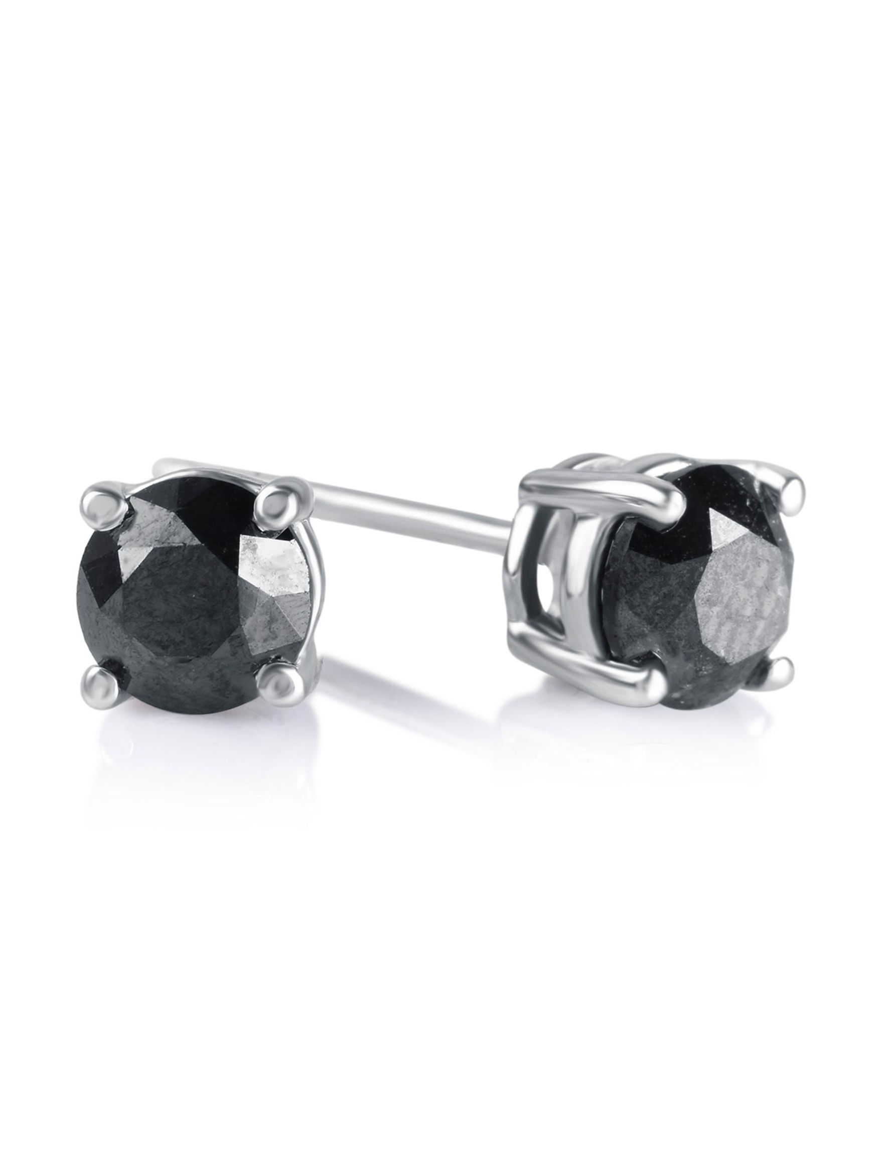 Brilliant Diamond Silver Studs Earrings Fine Jewelry