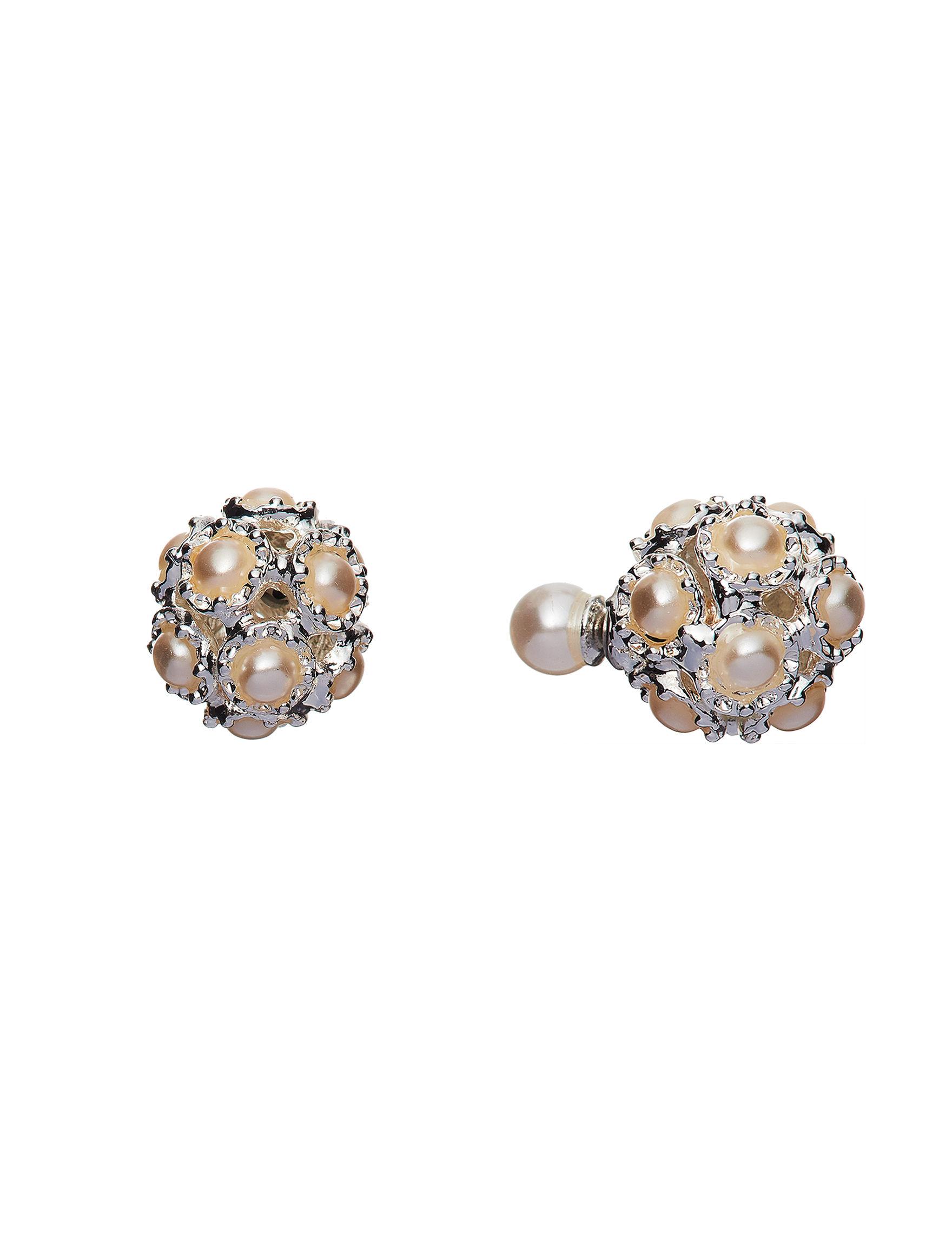 Hannah Pearl / Crystal Studs Earrings Fashion Jewelry