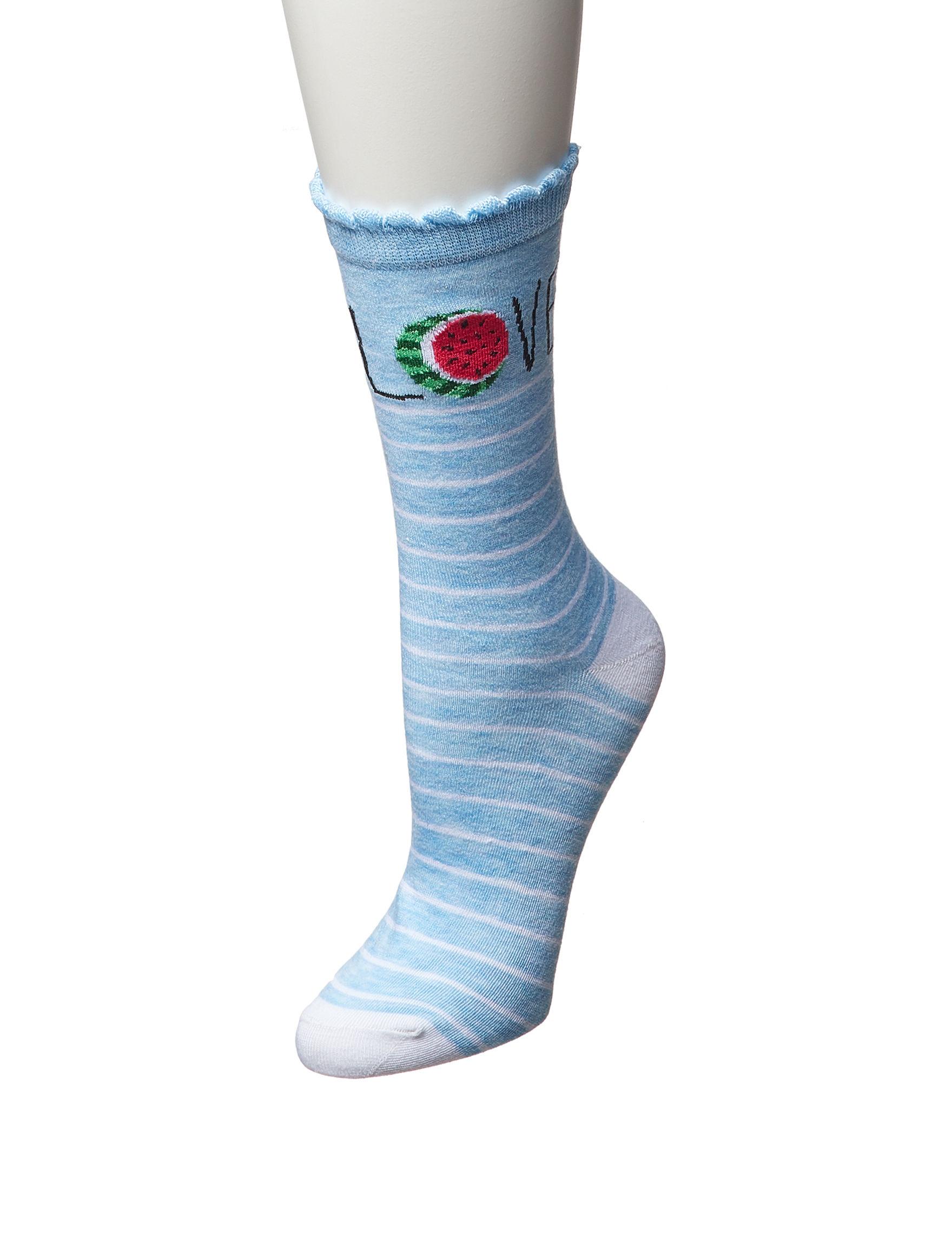 Keep Your Socks On Blue Multi Socks