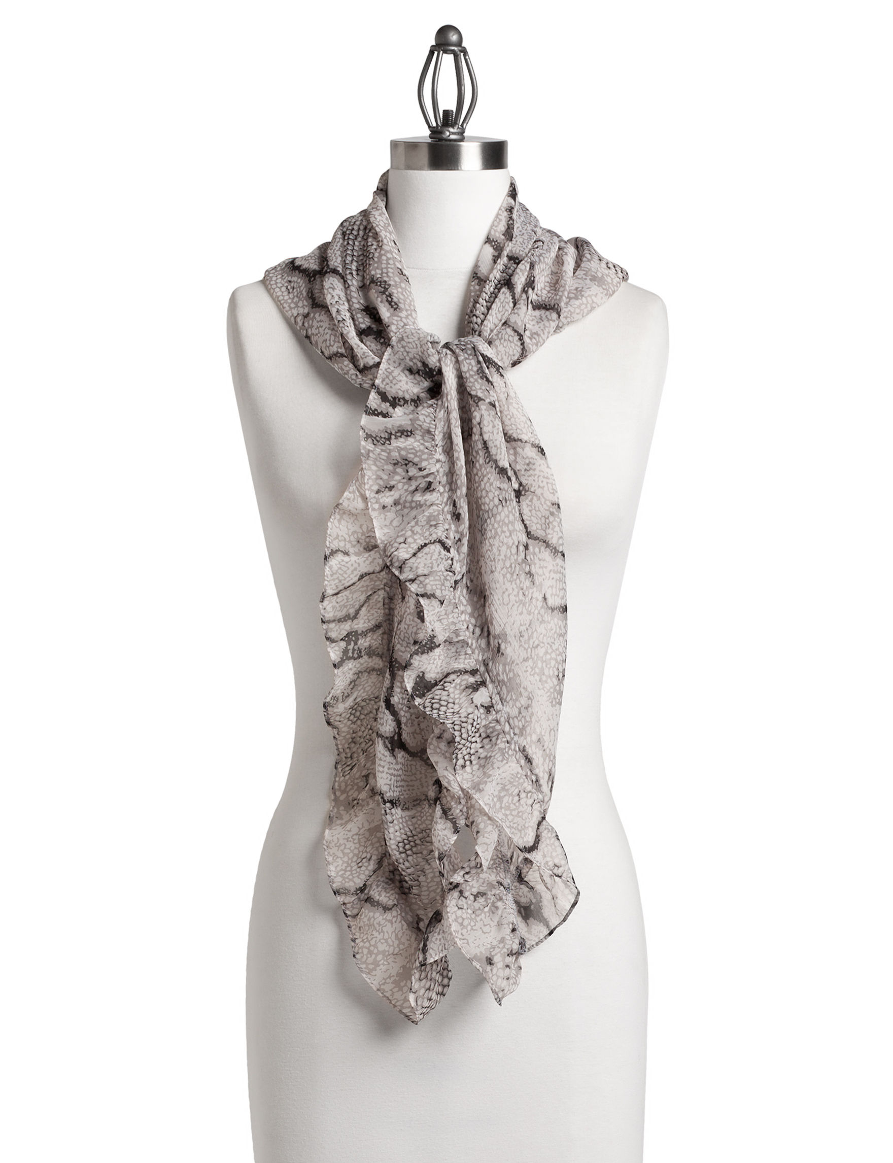 Basha Grey Multi Scarves & Wraps