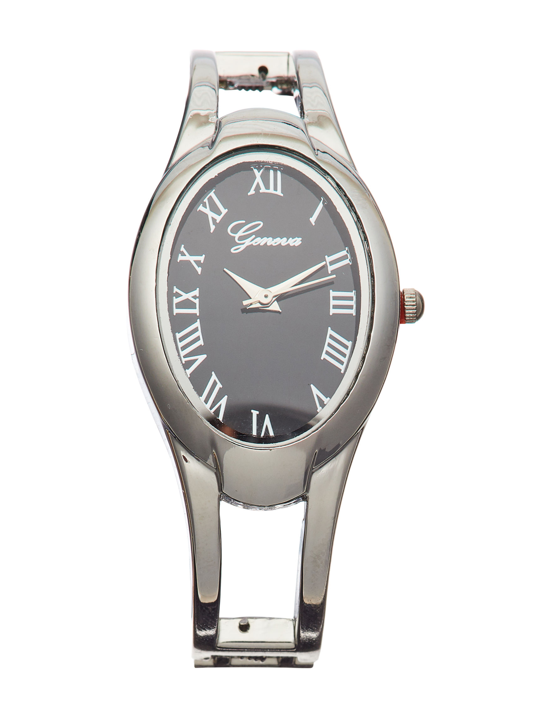 Global Time Black / Silver Fashion Watches
