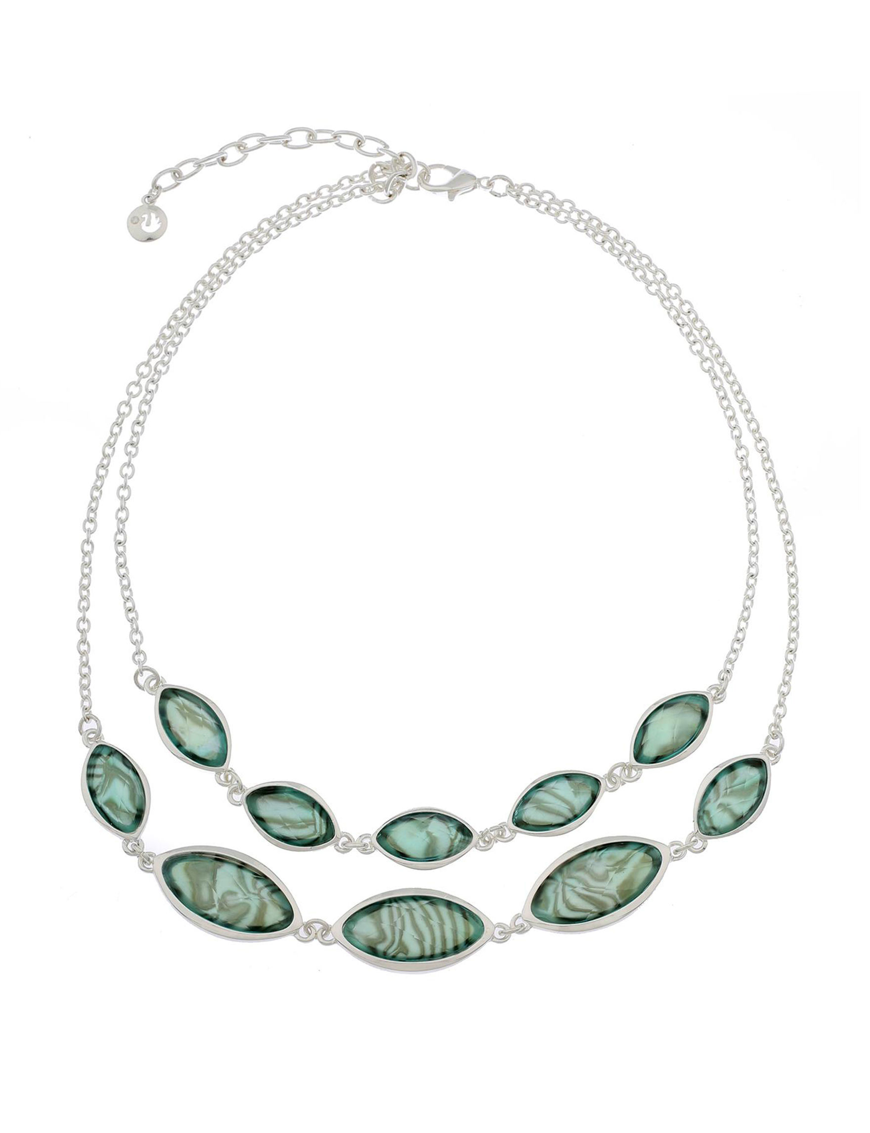 Gloria Vanderbilt Green / Silver Necklaces & Pendants Fashion Jewelry