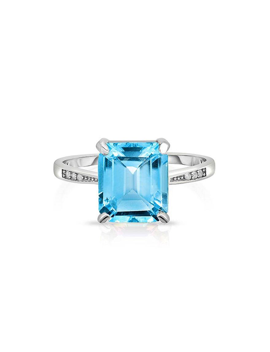 Yedid International Blue Topaz Rings Fine Jewelry