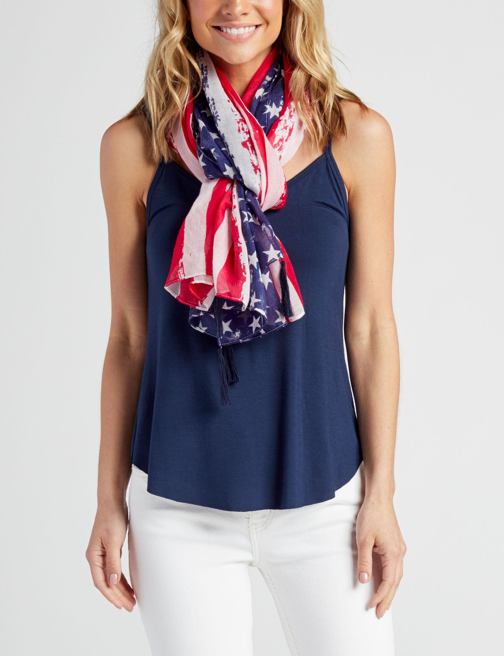 Cejon Red / White / Blue Scarves & Wraps Scarves