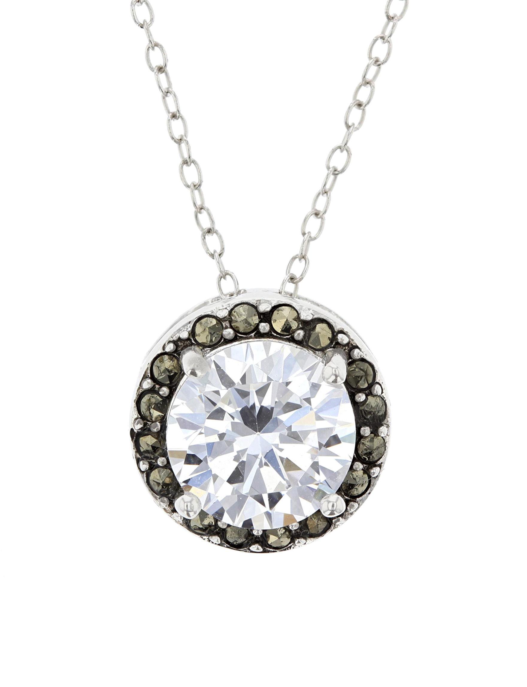 Sunstone White / Silver Necklaces & Pendants Fine Jewelry