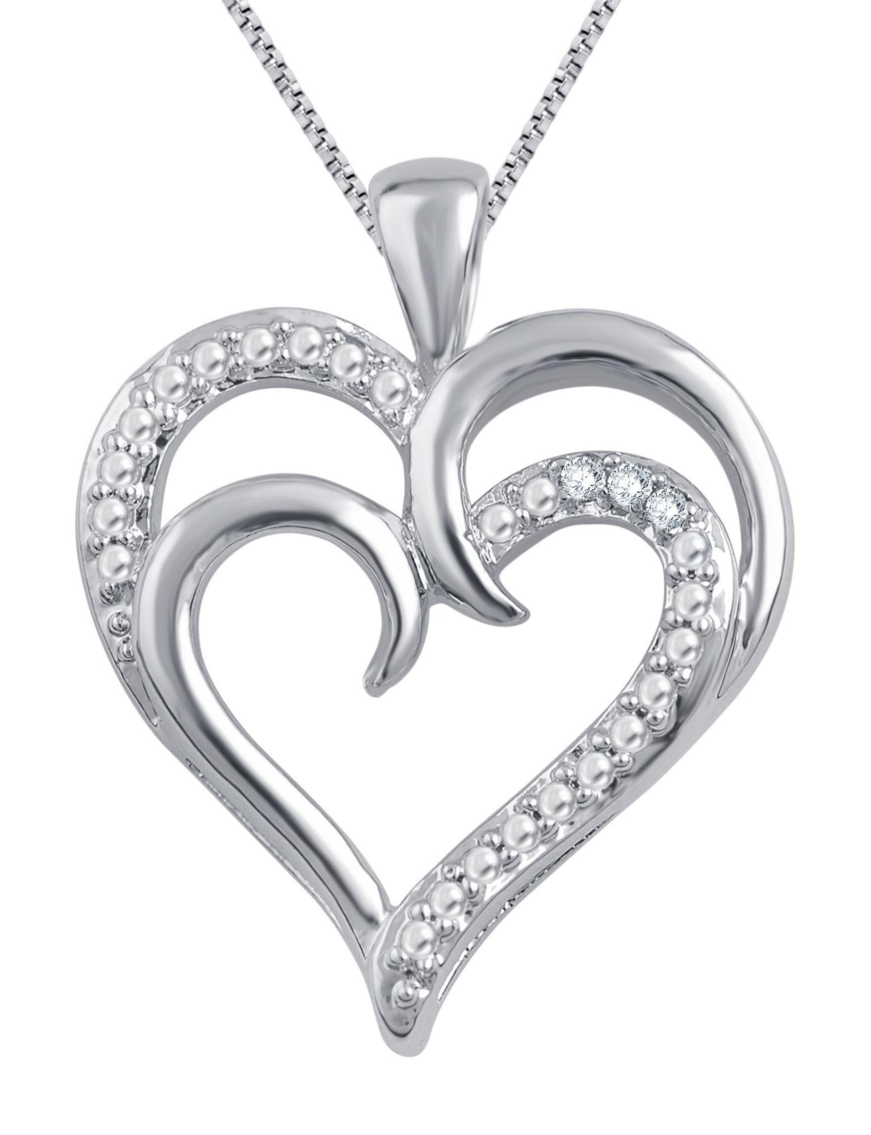 Brilliant Diamond White Gold Necklaces & Pendants Fine Jewelry