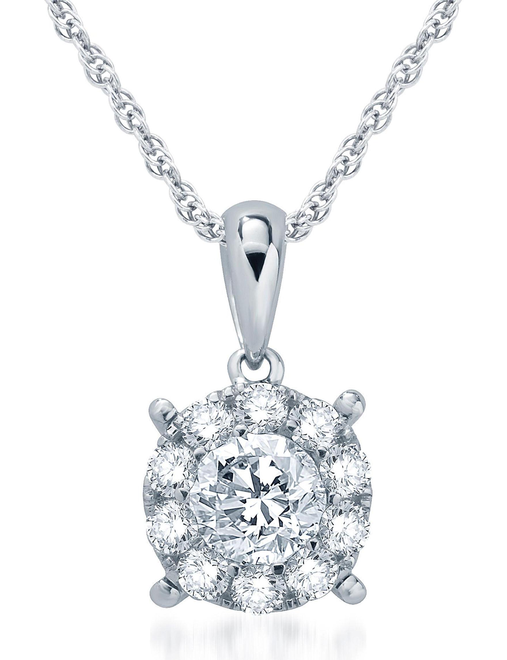 Kiran White Gold Necklaces & Pendants Fine Jewelry