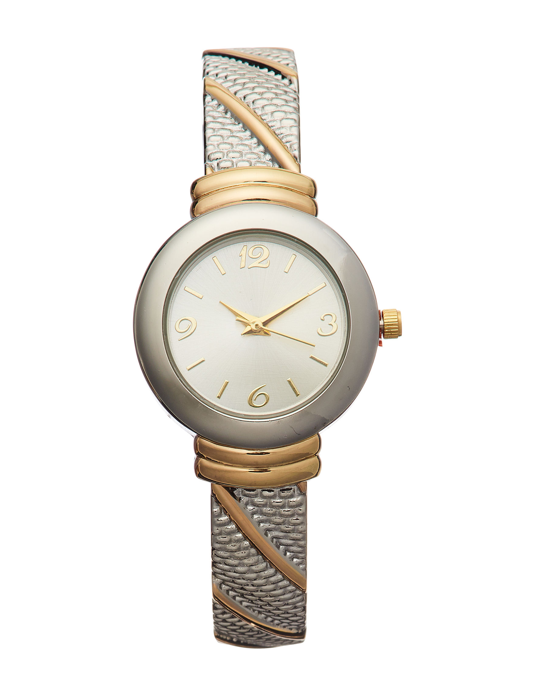 Global Time Two Tone Fashion Watches
