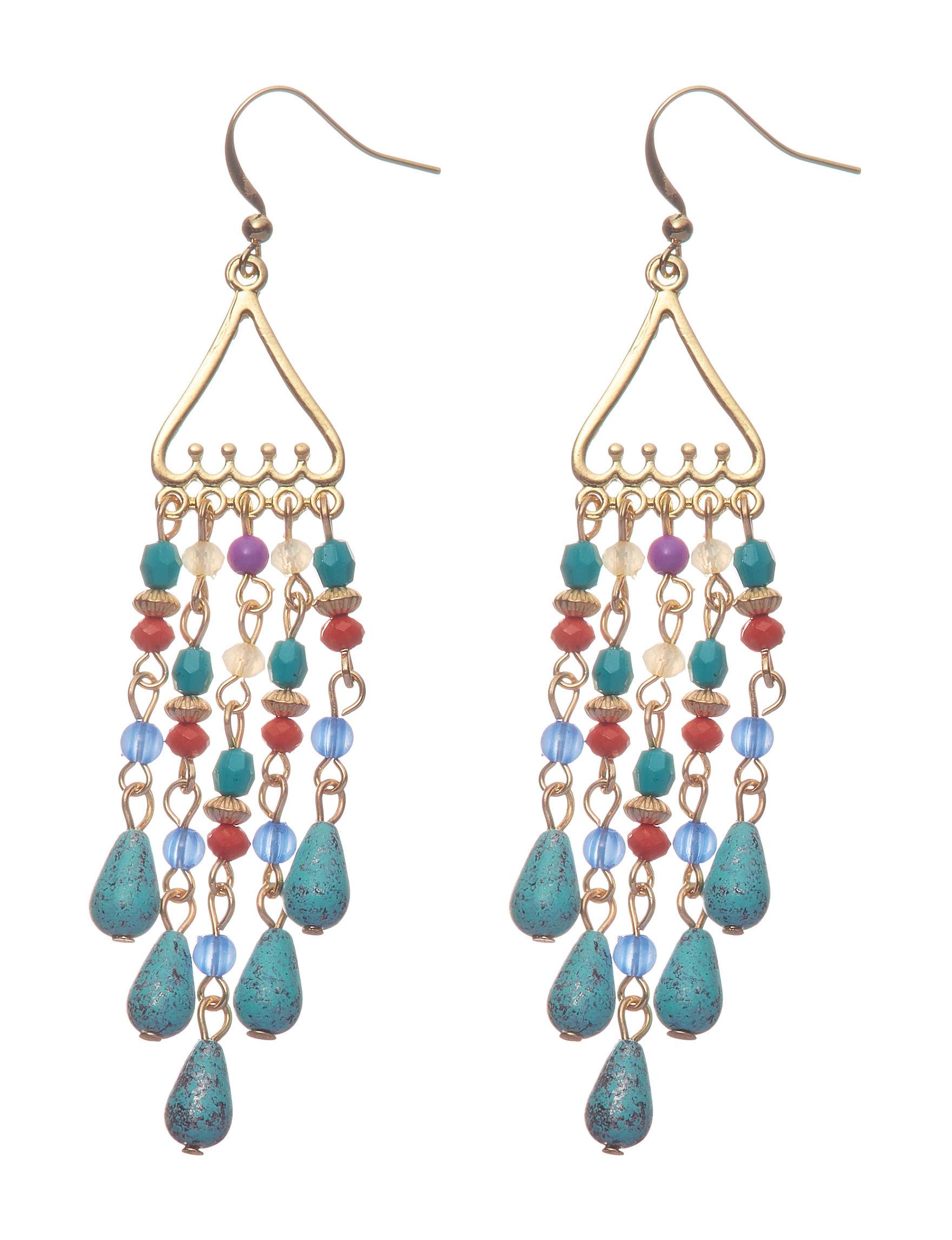 Hannah Multi Drops Earrings Fashion Jewelry