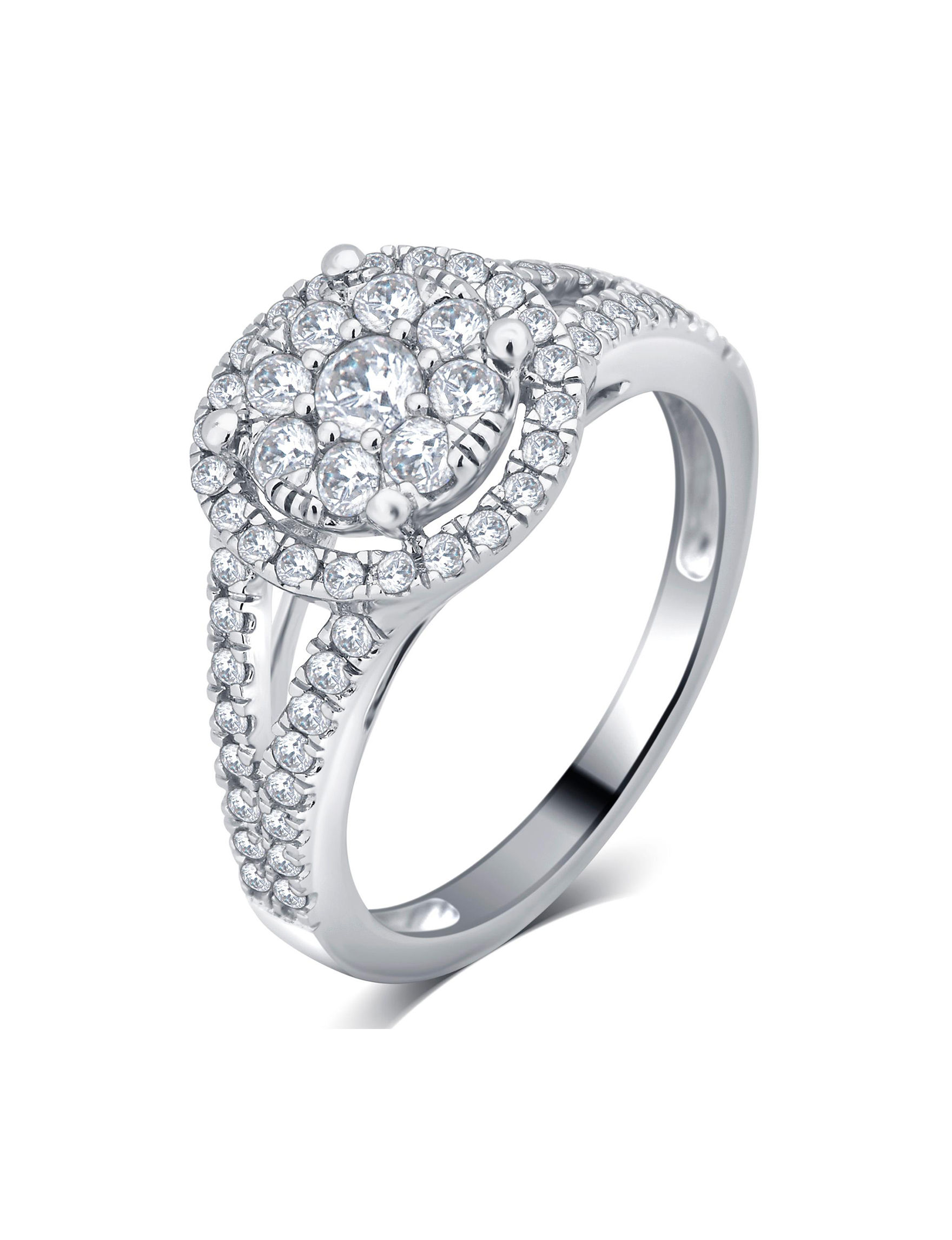 Brilliant Diamond White Gold Rings Fine Jewelry