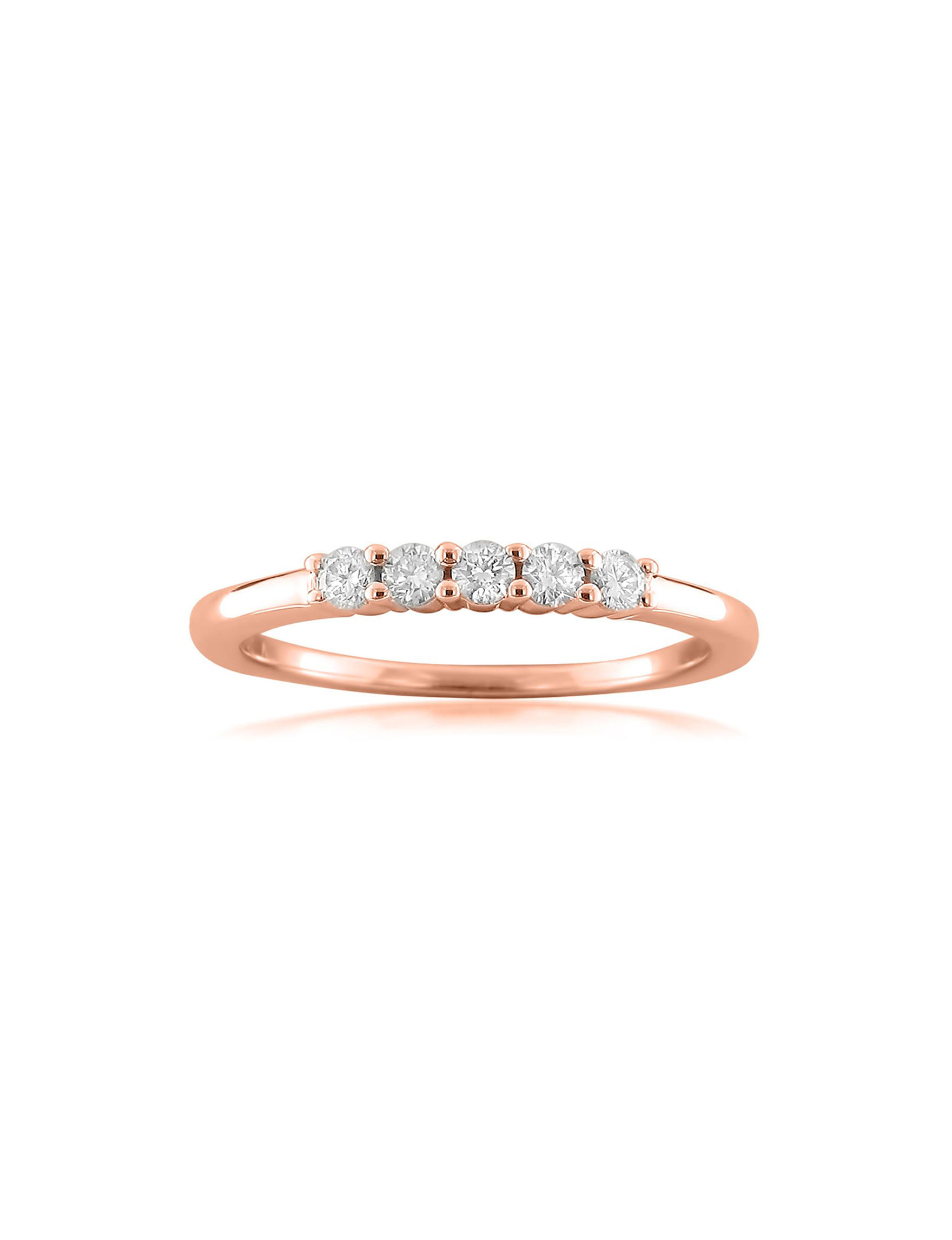 La4ve Diamonds Rose Gold Rings Fine Jewelry