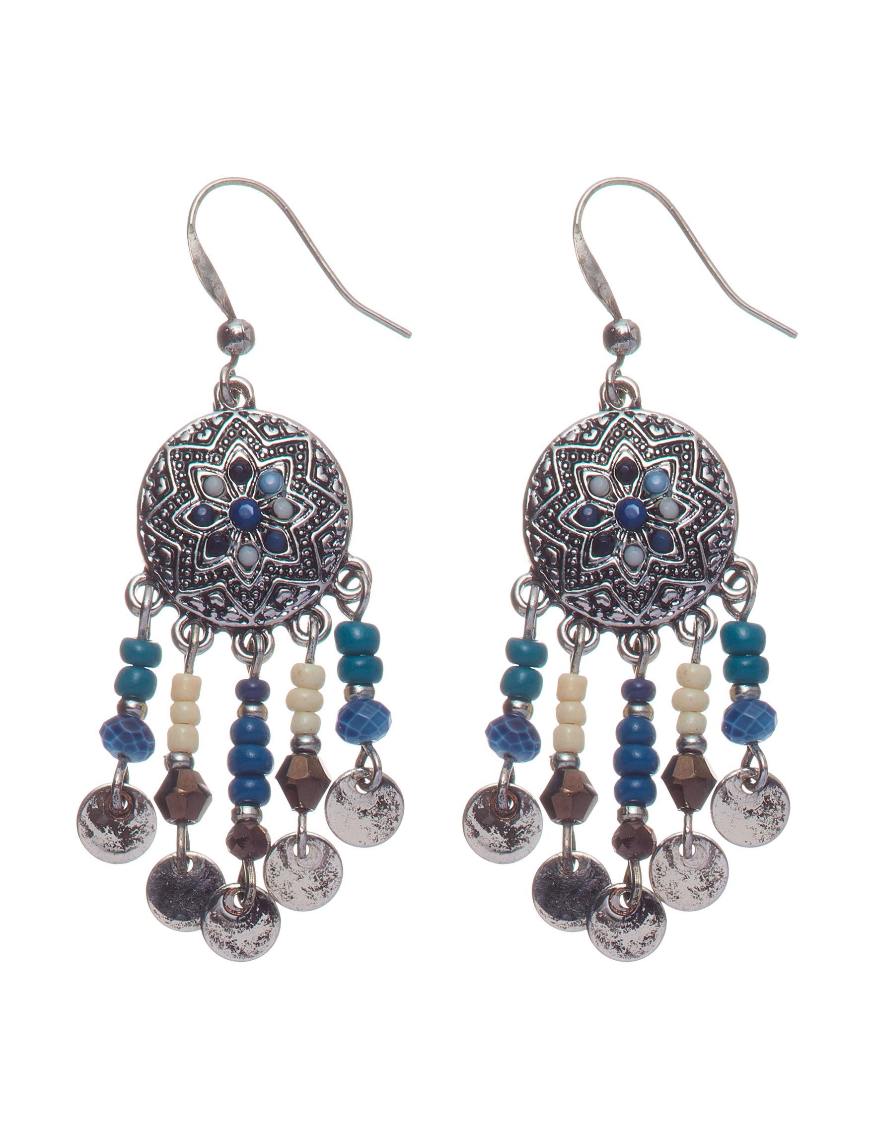 Hannah Blue Multi Drops Earrings Fashion Jewelry