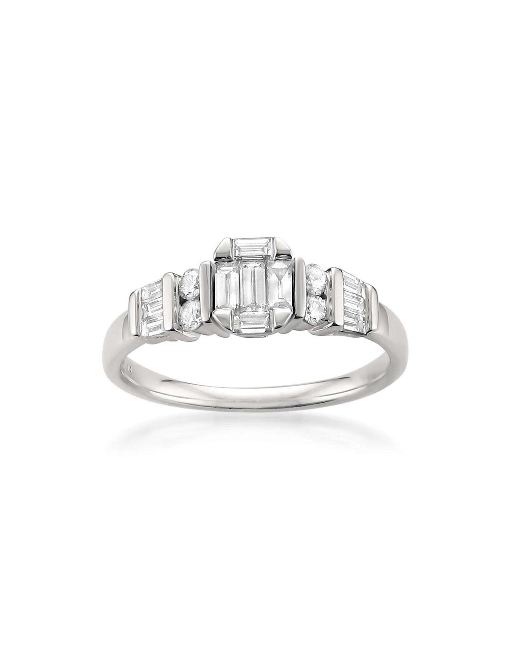 La4ve Diamonds White Gold Rings Fine Jewelry