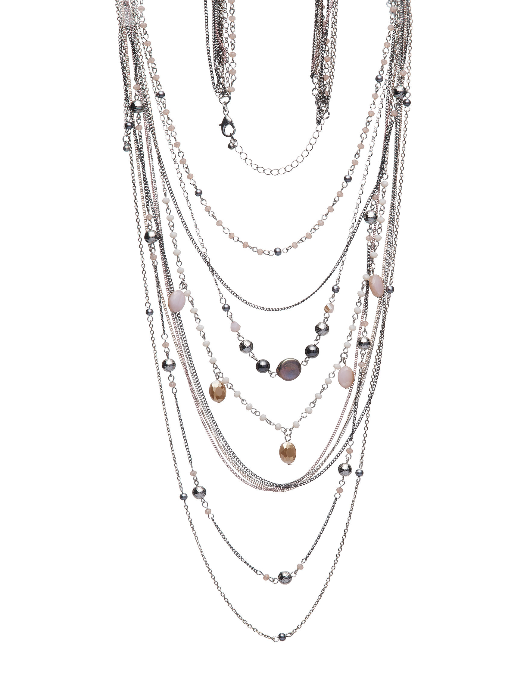 Hannah Pink Multi Necklaces & Pendants Fashion Jewelry