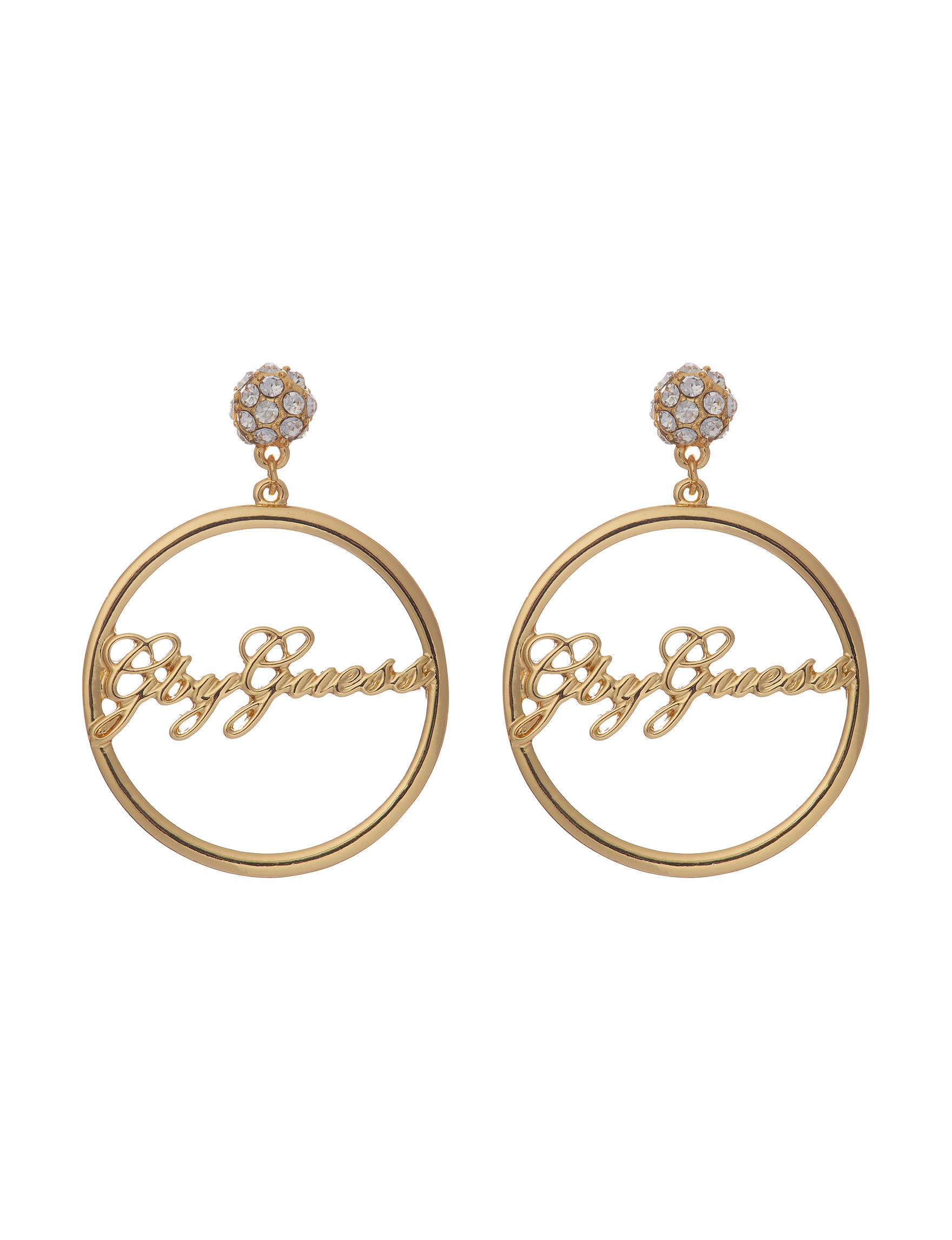 G by Guess Gold Drops Earrings Fashion Jewelry