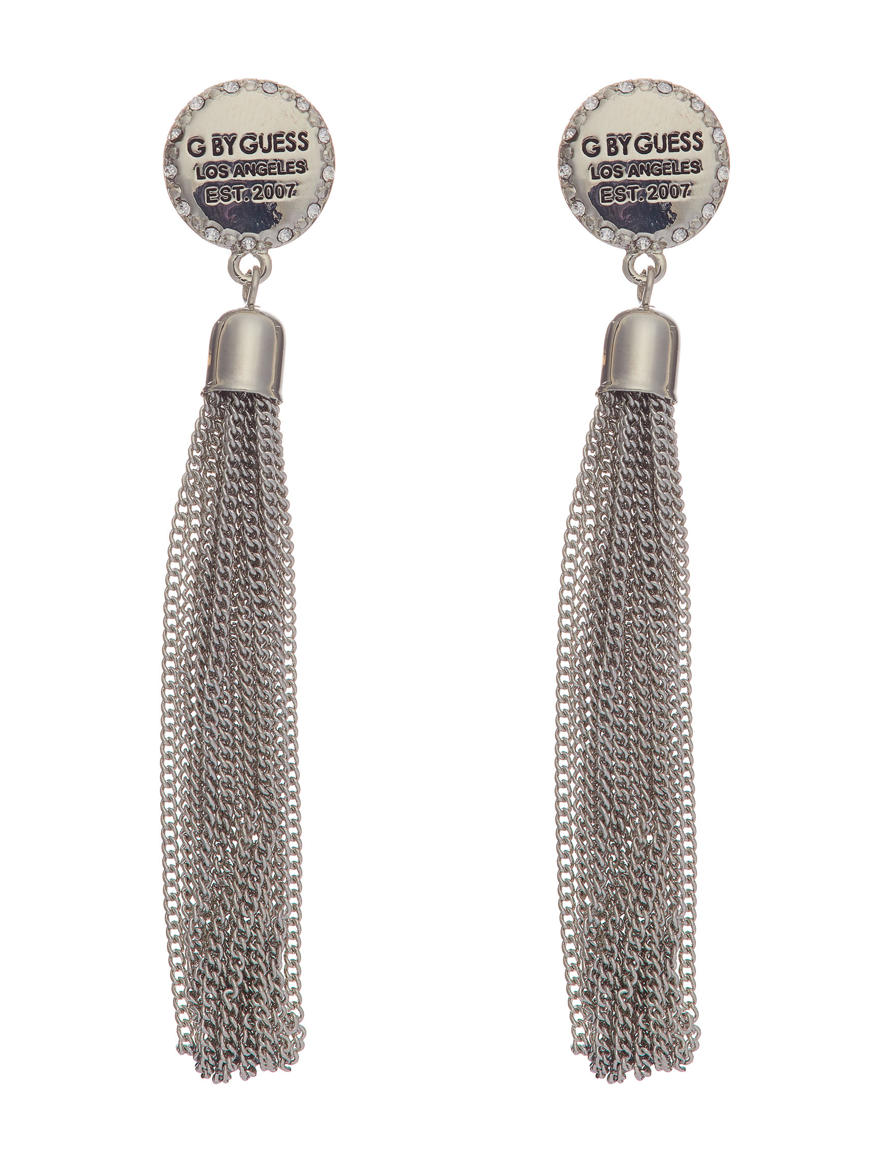 G by Guess Silver Drops Earrings Fashion Jewelry