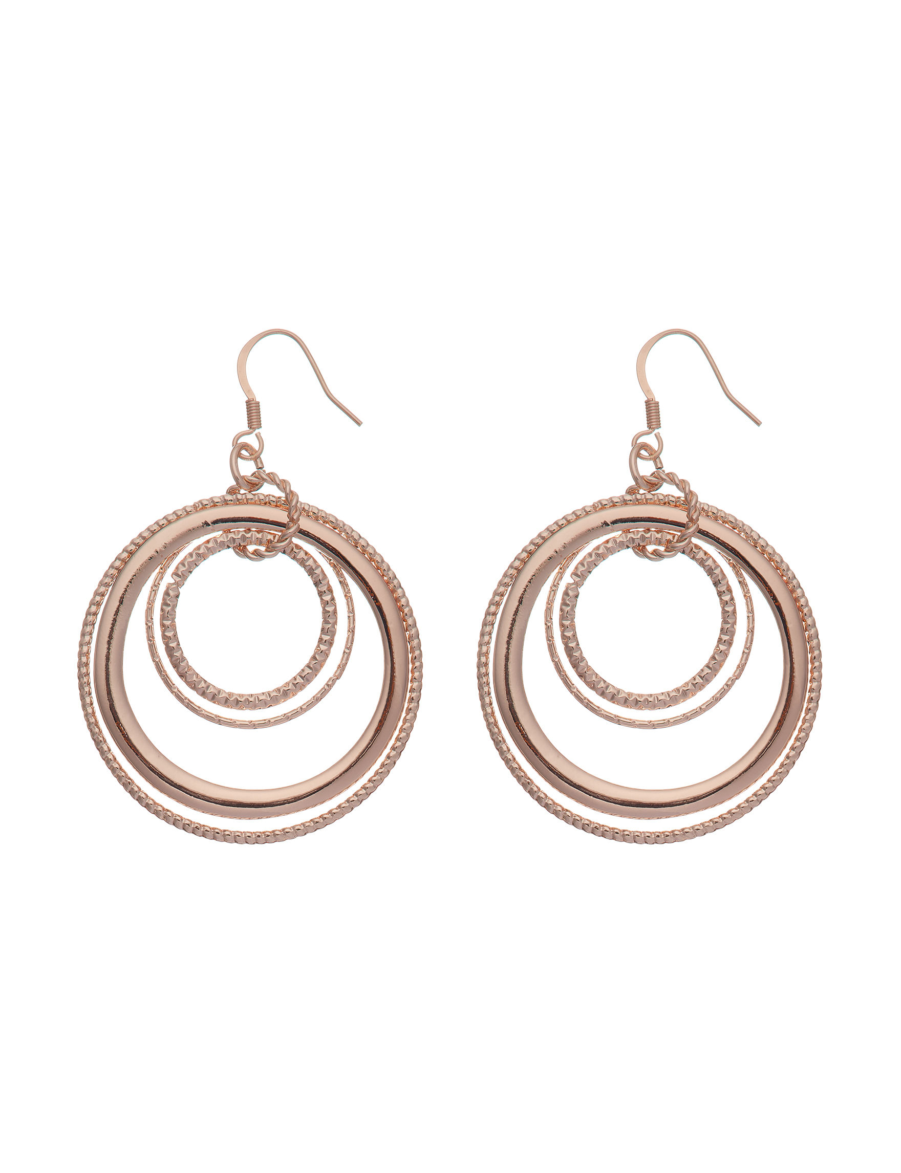 G by Guess Rose Gold Drops Earrings Fashion Jewelry