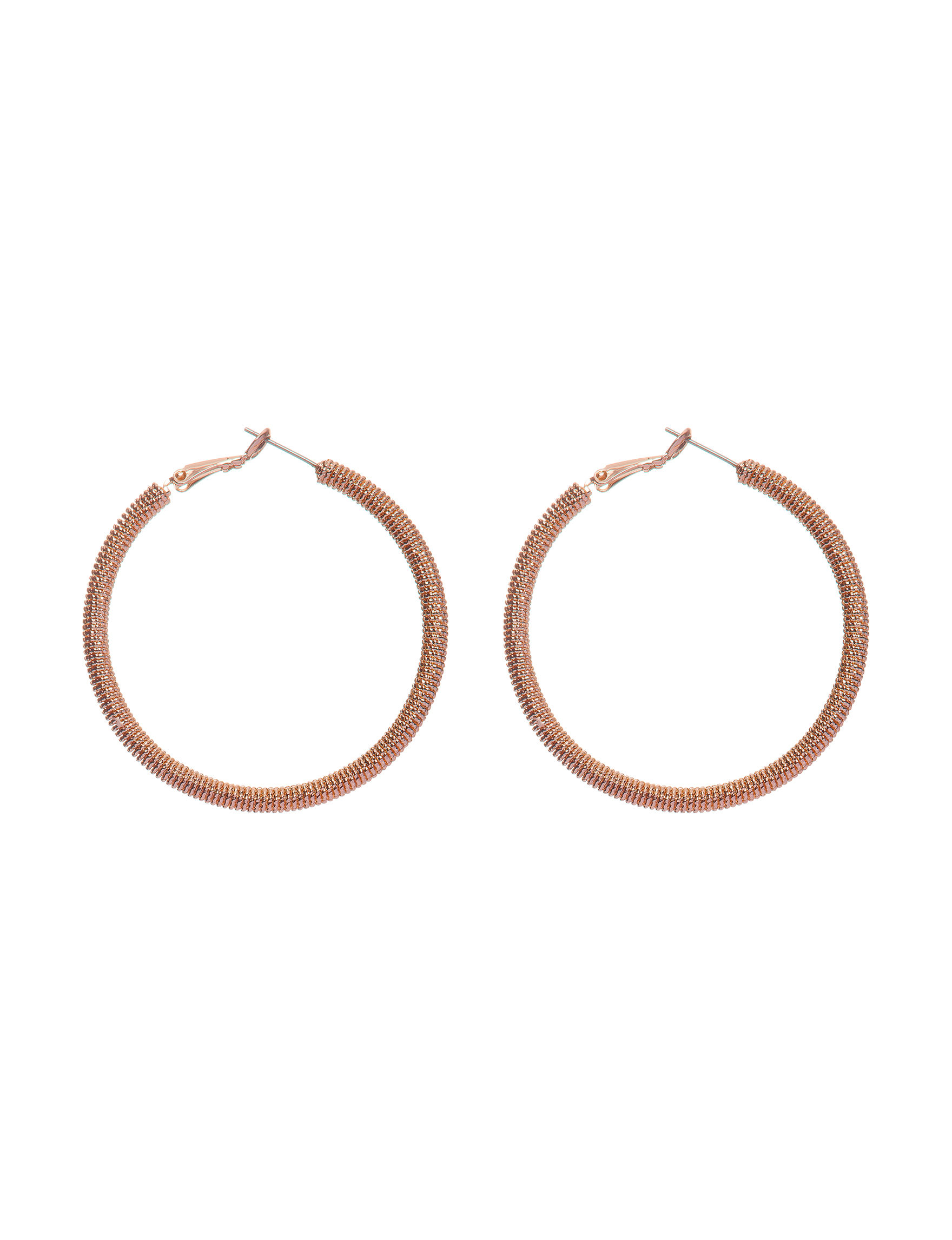 G by Guess Rose Gold Hoops Earrings Fashion Jewelry