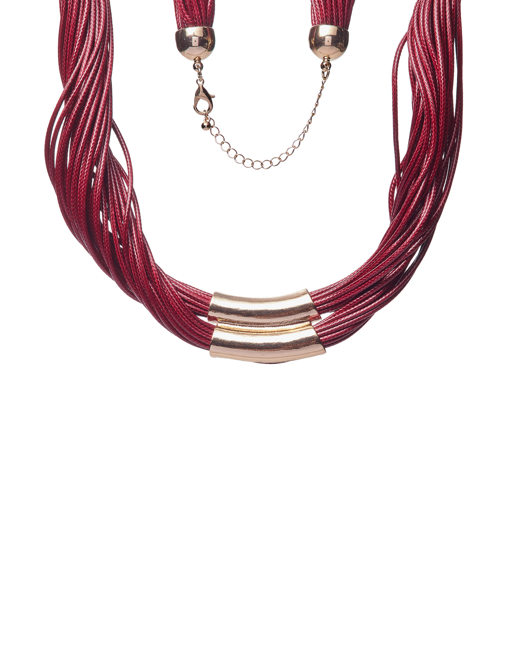 Hannah Red / Gold Necklaces & Pendants Fashion Jewelry