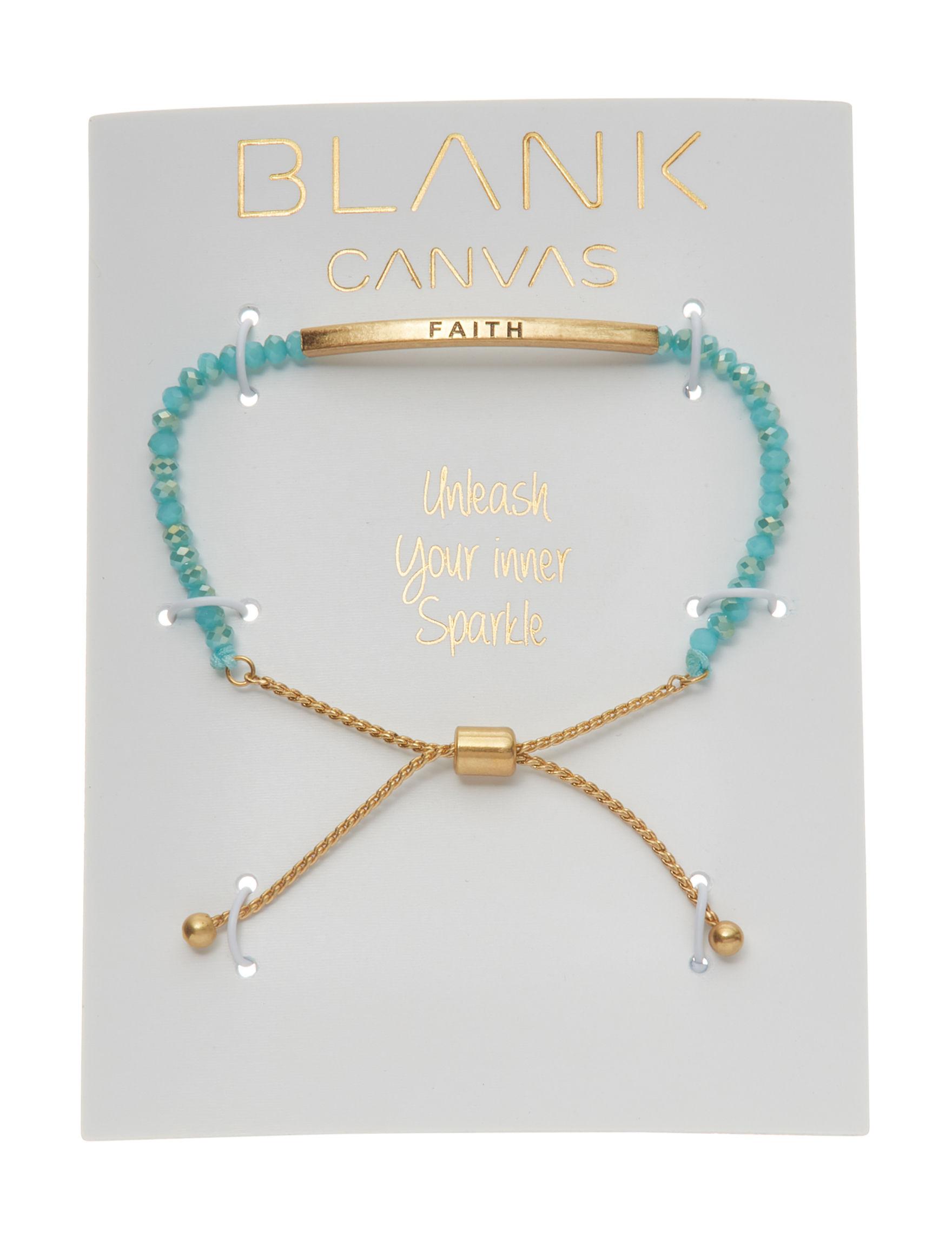Blank Canvas Blue Multi Bracelets Fashion Jewelry