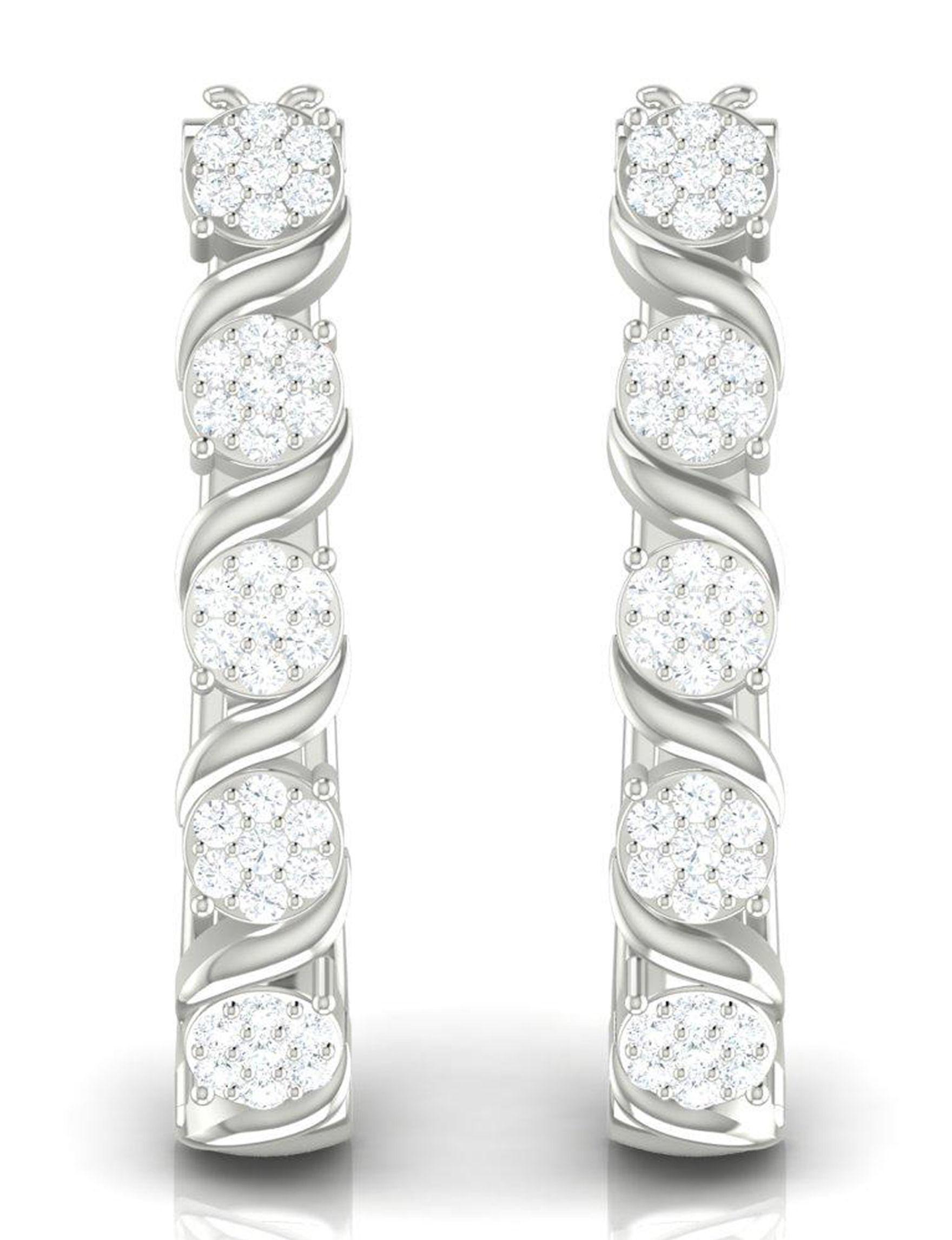 Shriyam Silver Hoops Earrings Fine Jewelry