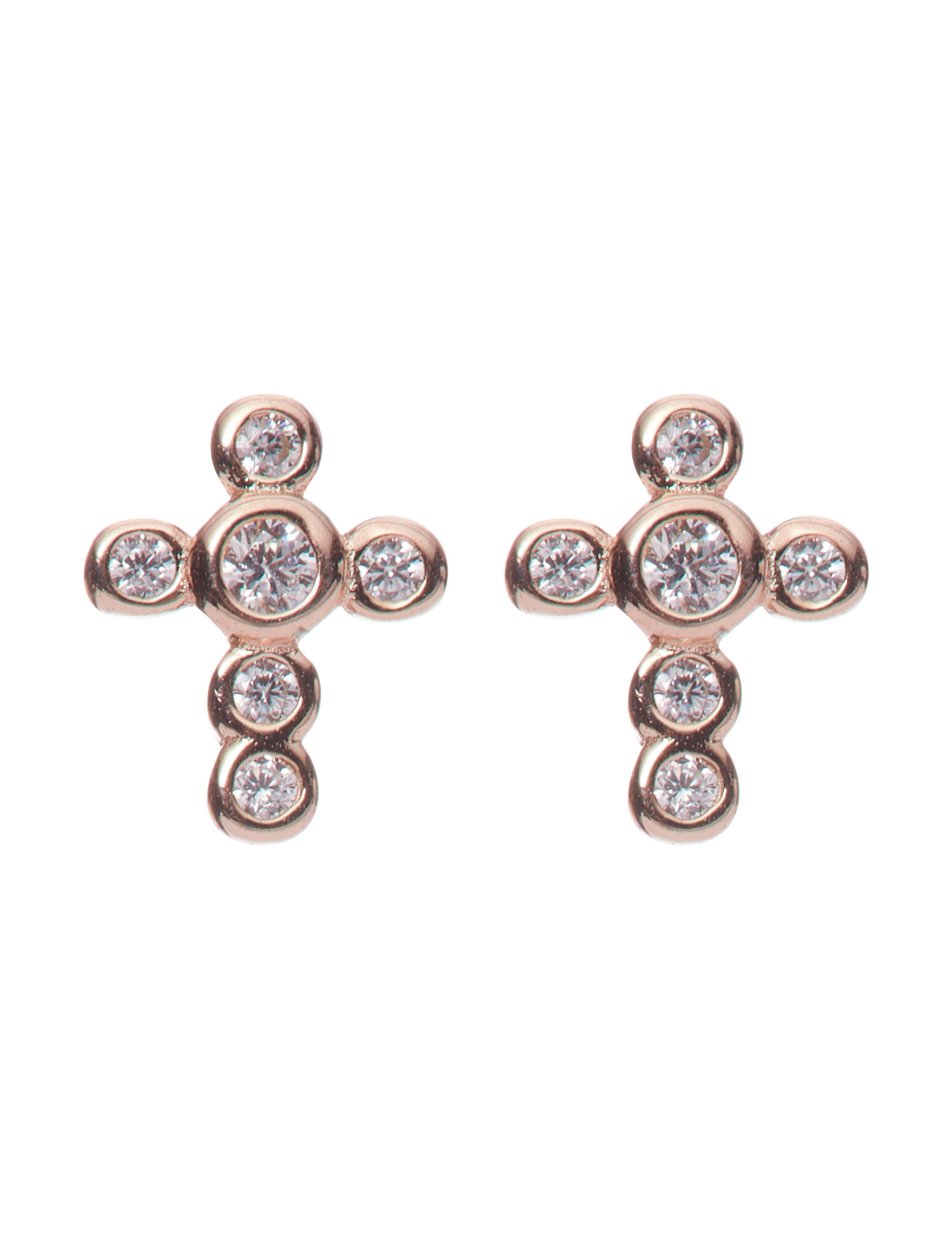 Marsala Rose Gold Studs Earrings Fine Jewelry