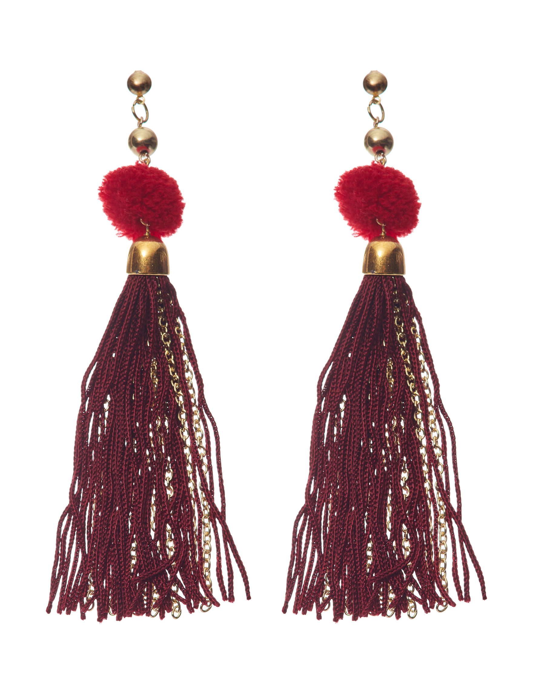 Hannah Red / Gold Earrings Fashion Jewelry