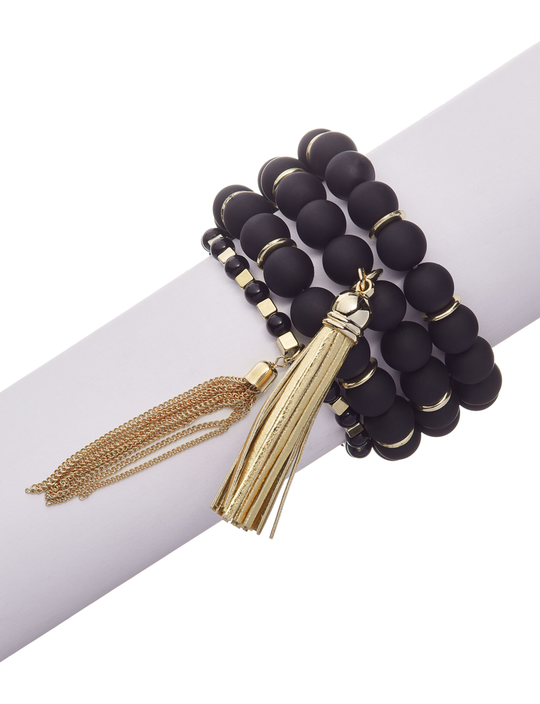 Hannah Black / Gold Bracelets Fashion Jewelry