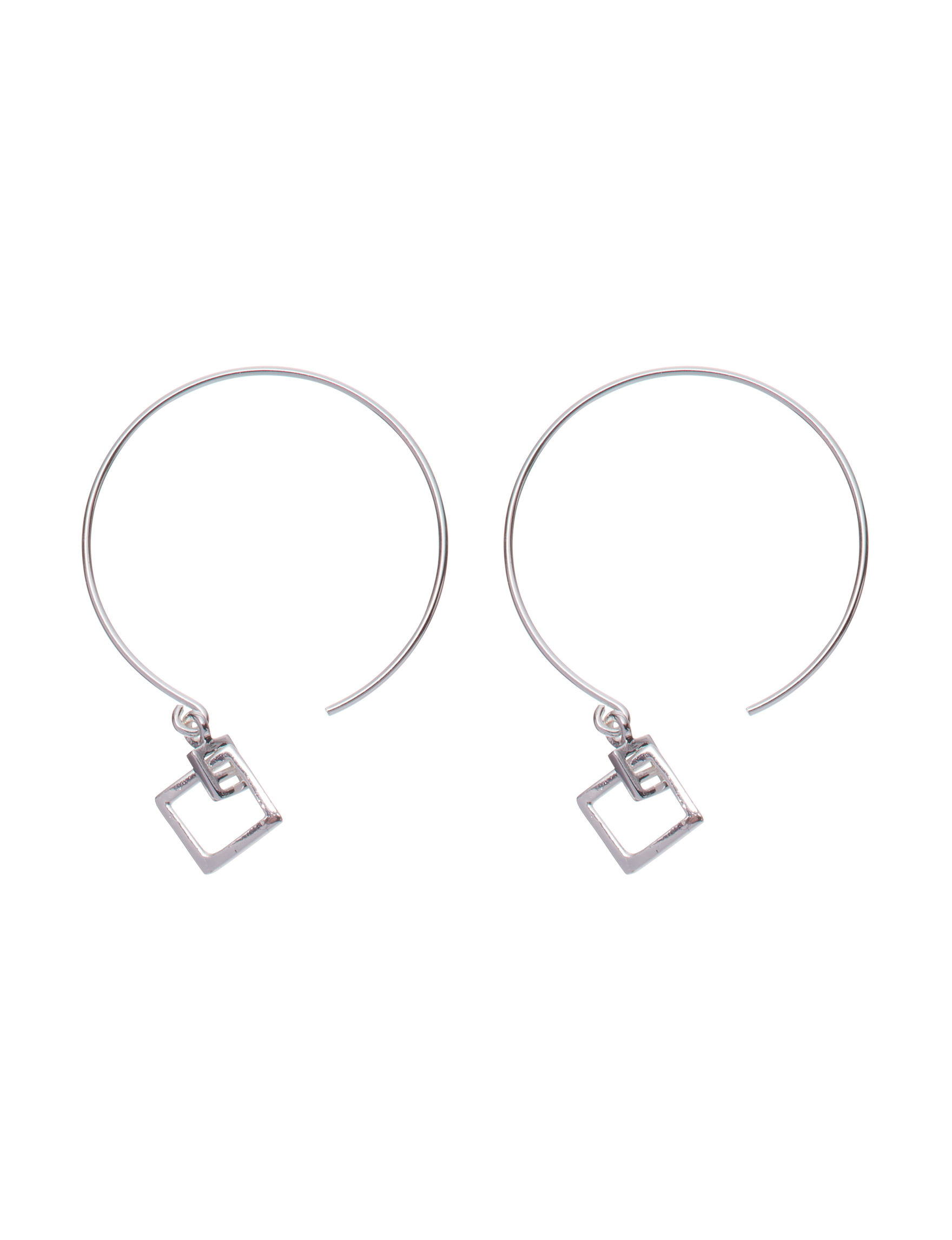 Marsala Silver Hoops Earrings Fine Jewelry
